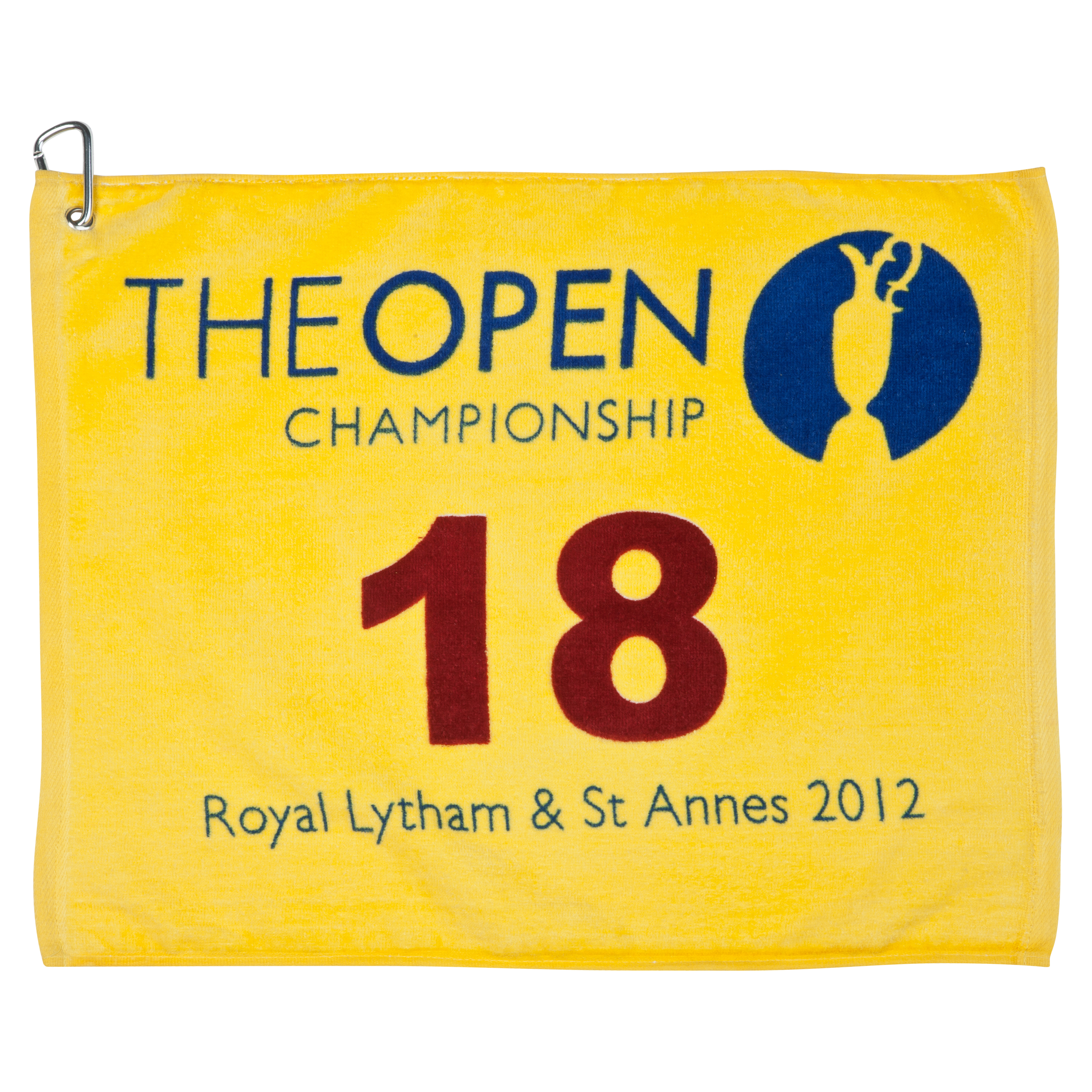 The Open Championship 2012 Royal Lytham and St. Annes 18th Green Yellow Pin Towel