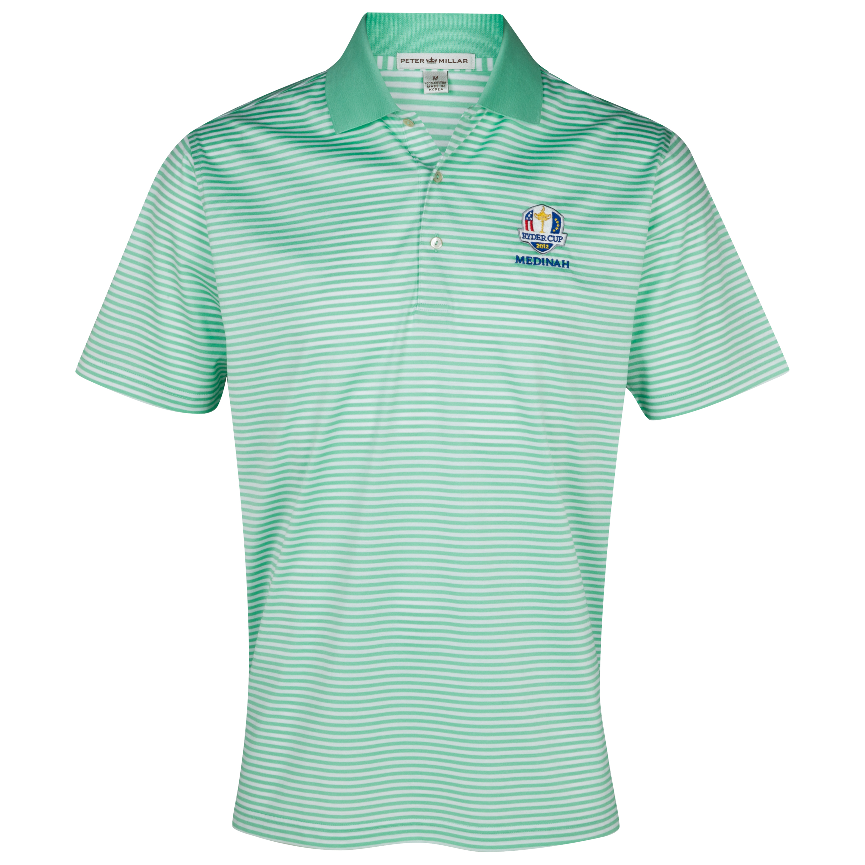 The Ryder Cup Medinah 2012 Peter Millar Luxury Stripe Polo - Spearmint/White