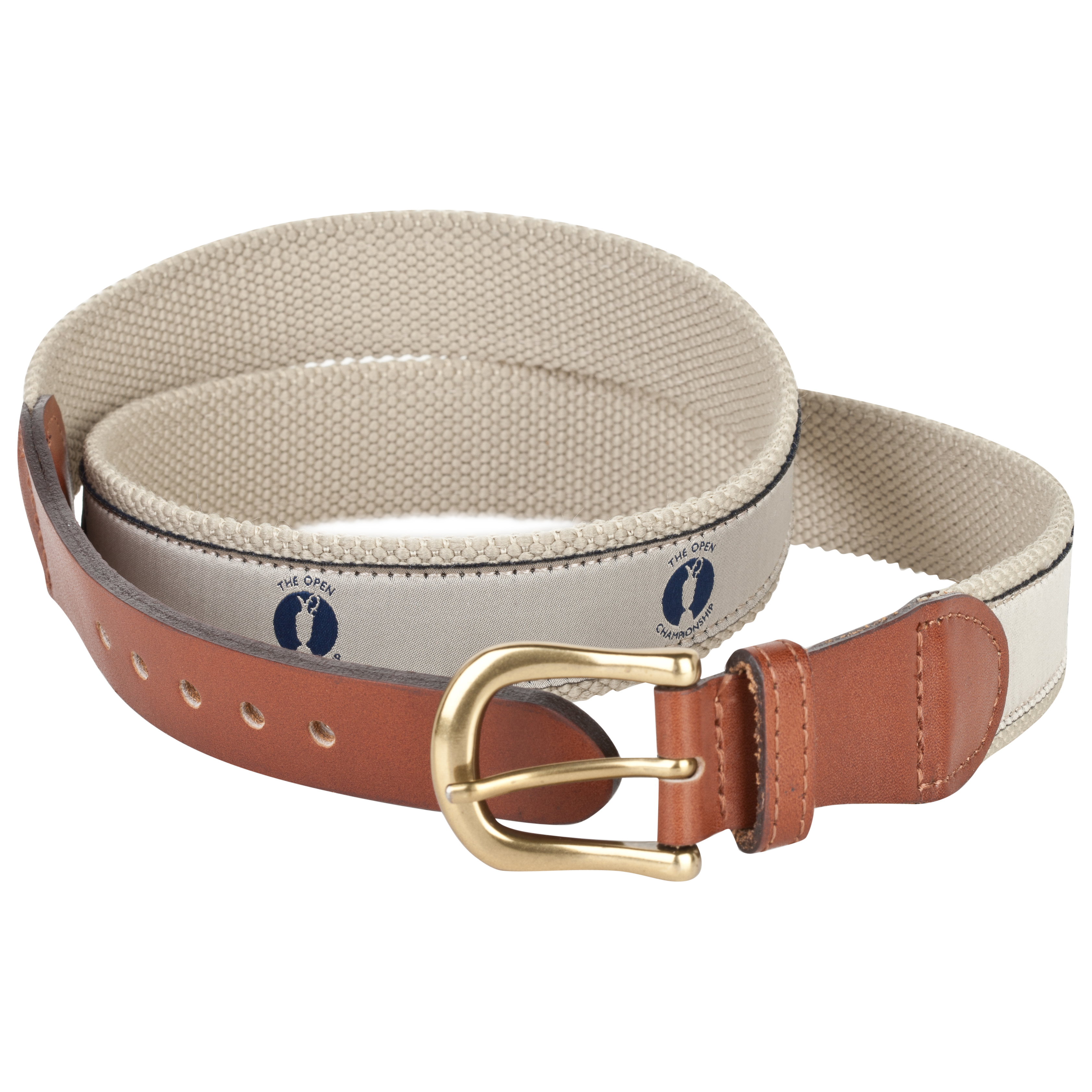 The Open Championship Webbing Belt - Stone