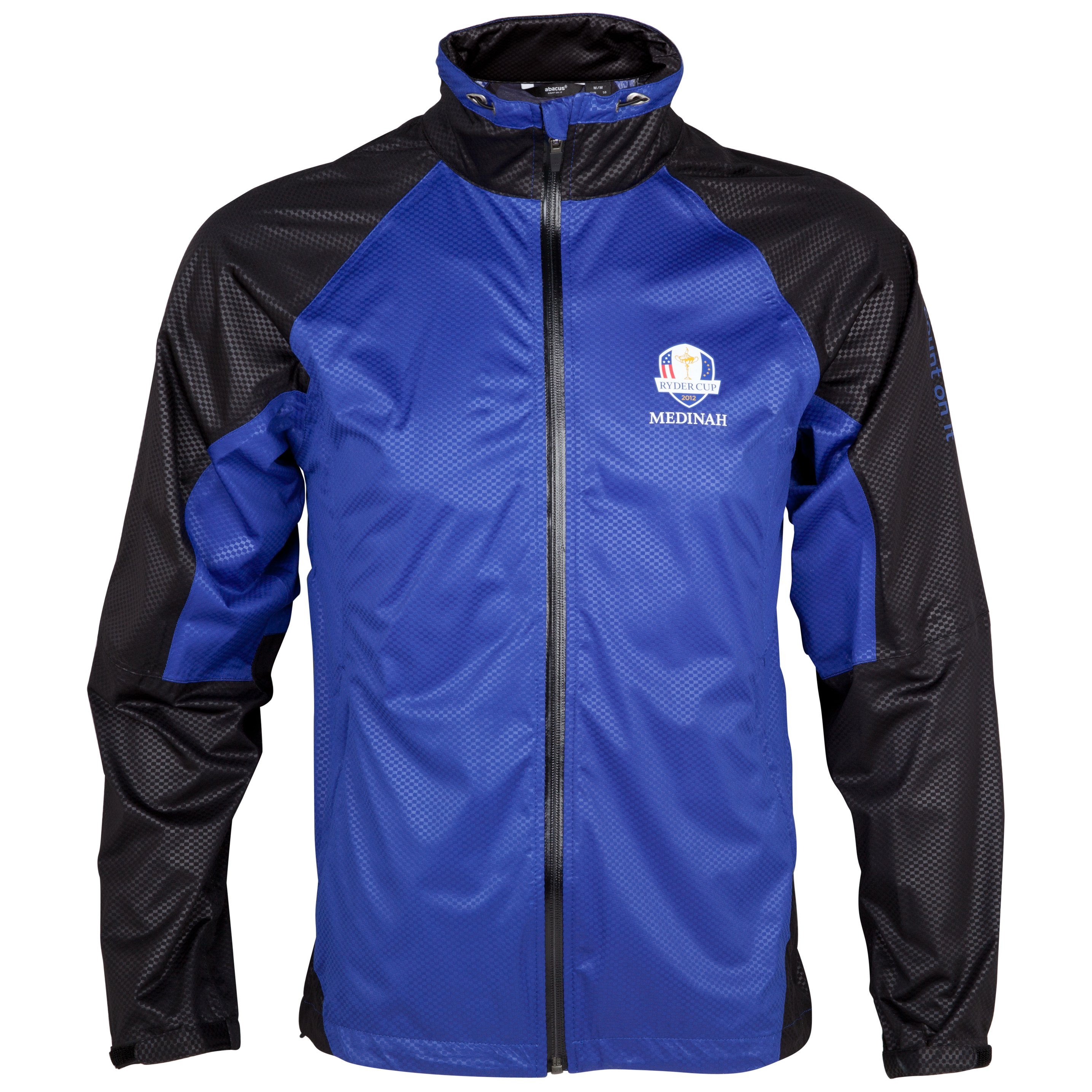 The Ryder Cup Medinah 2012 abacus Barton Stretchlite Rain Jacket - True Blue