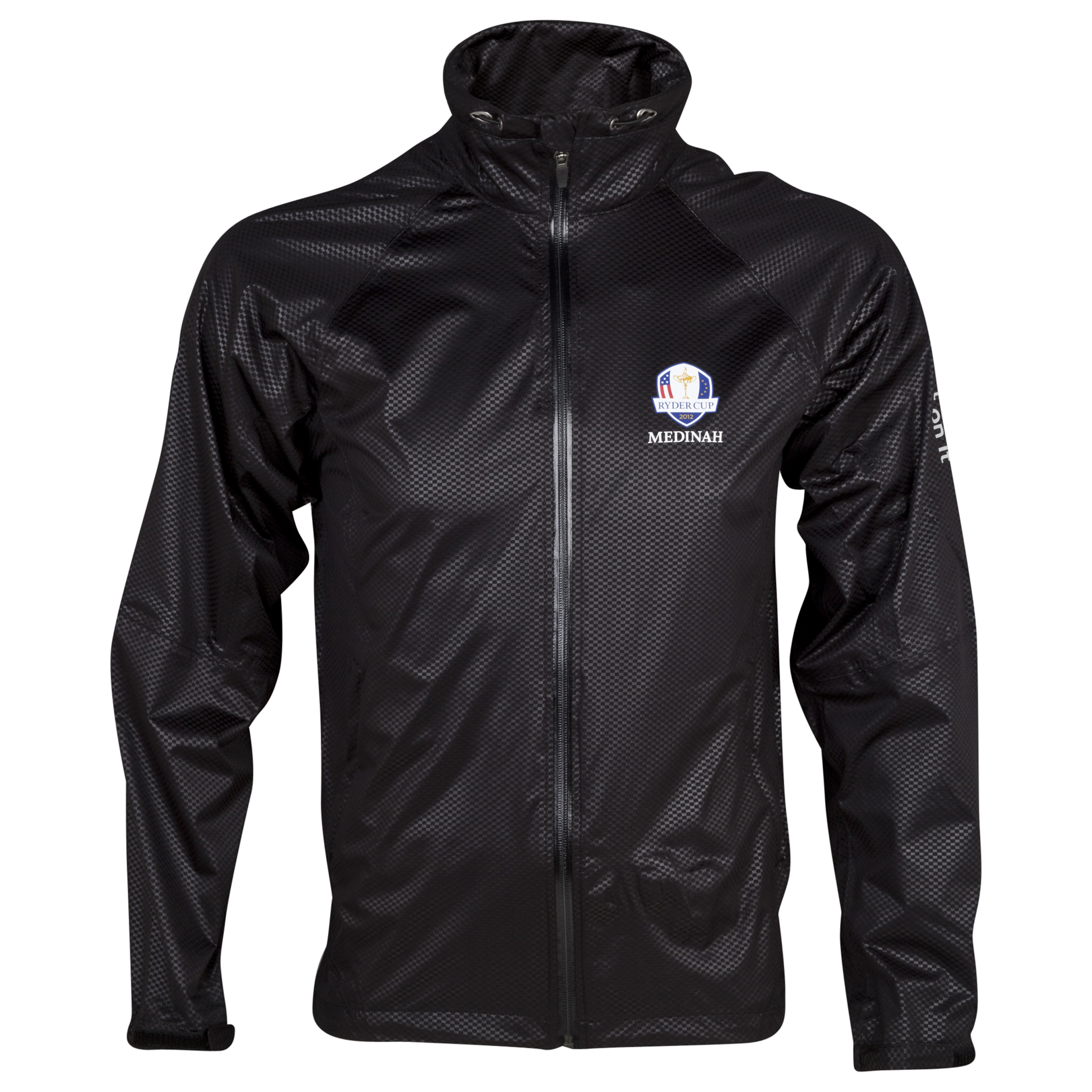 The 2012 Ryder Cup abacus Barton Stretchlite Rain Jacket - Black