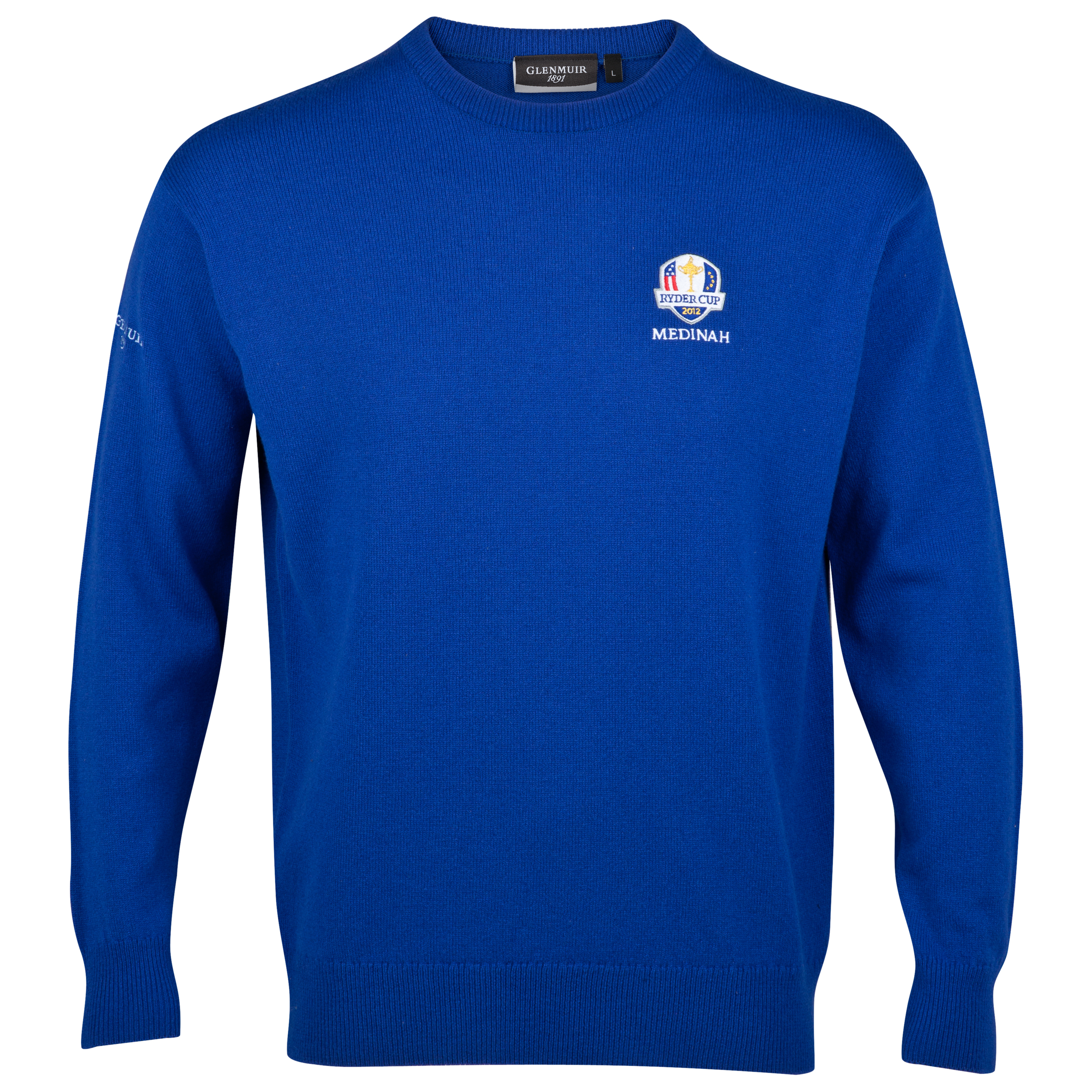 The 2012 Ryder Cup Glenmuir Morar Crew Neck Lambswool Sweater - Sapphire