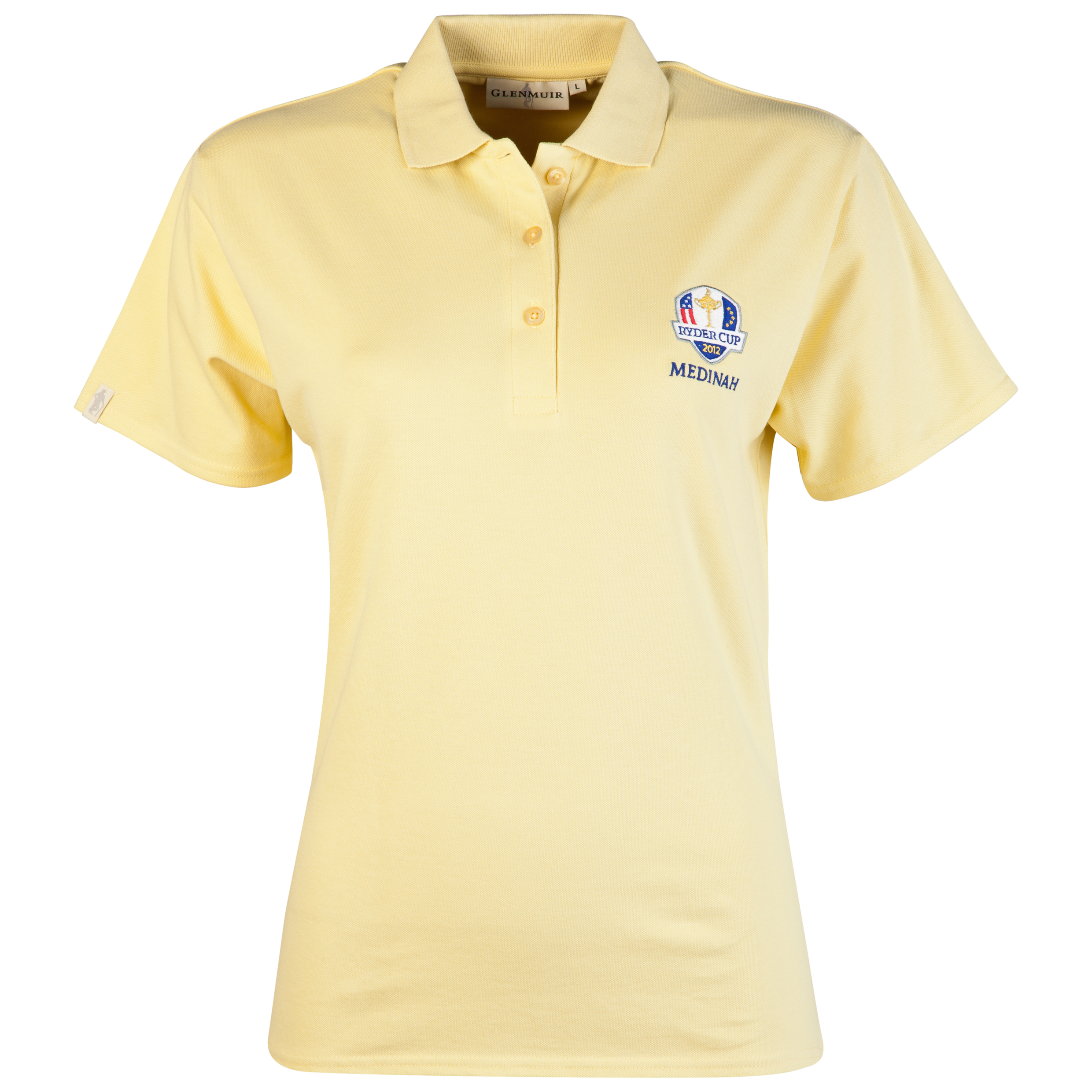 The 2012 Ryder Cup Glenmuir Sophie Womeninchs Polo - Light Yellow