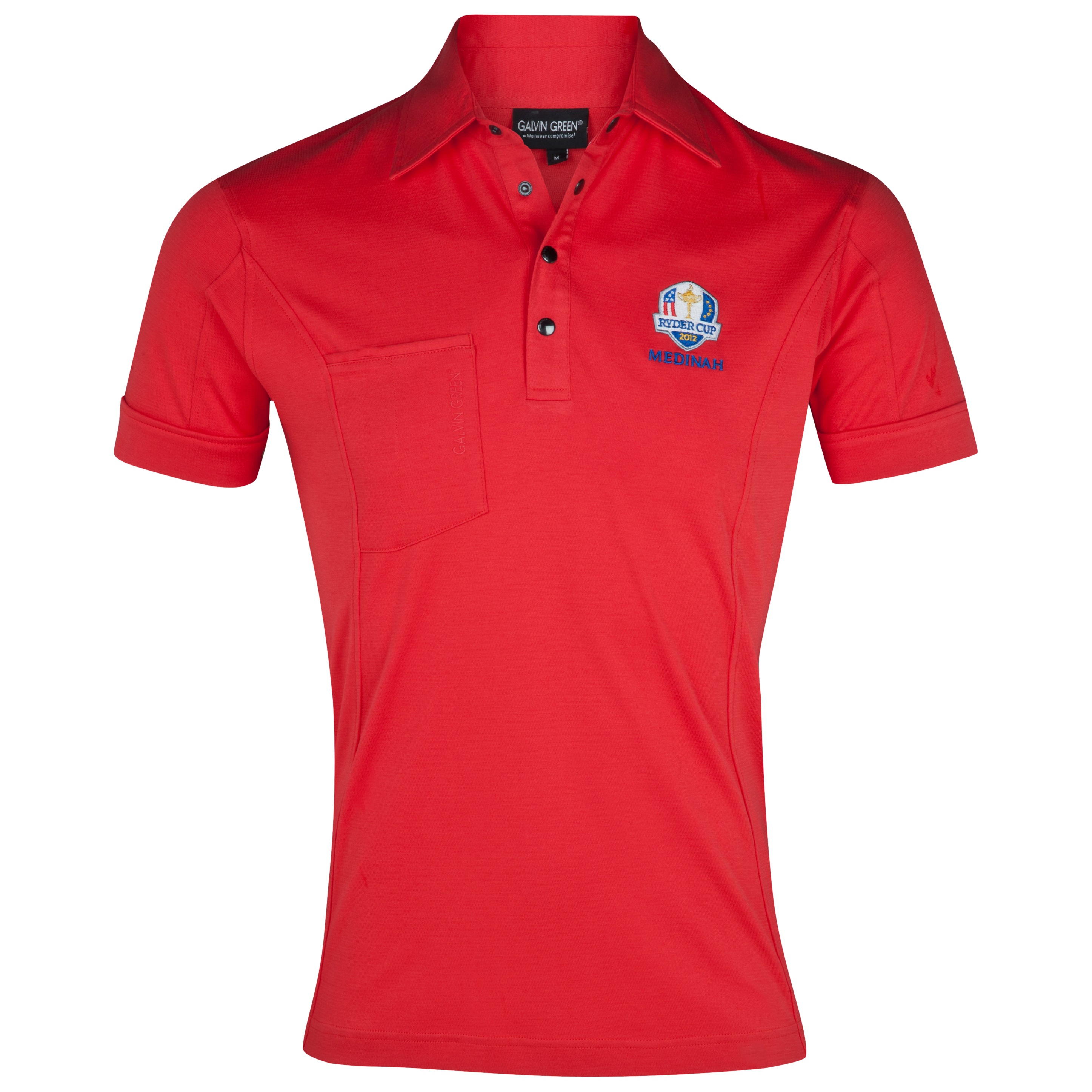 The 2014 Ryder Cup Galvin Green Golf Polo - Chilli Red