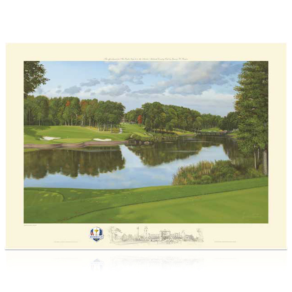 The Ryder Cup Medinah 2012 Country Club 17th Hole Limited Edition Print