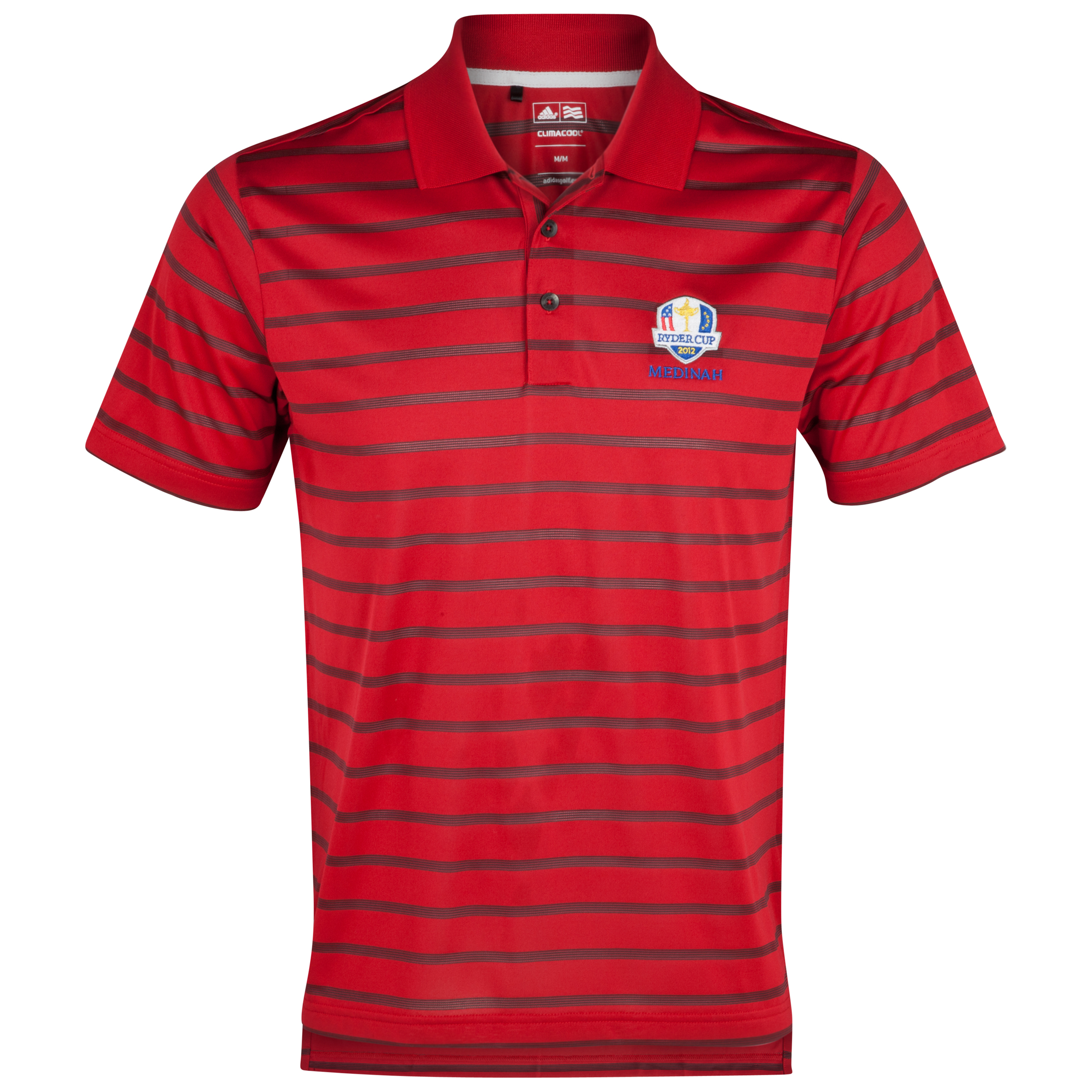 The Ryder Cup Medinah 2012 adidas ClimaCool Textured Stripe Polo - University Red/Black