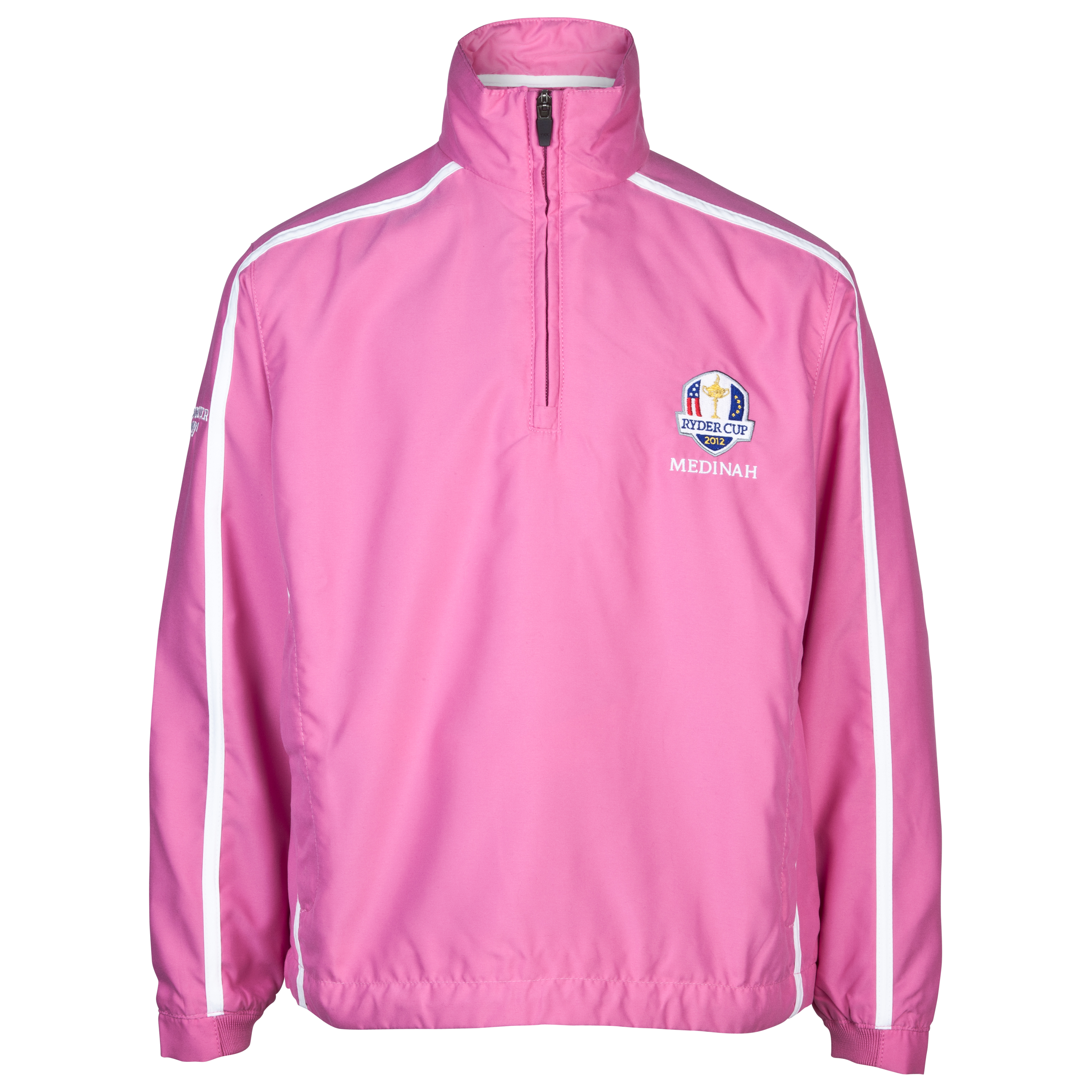 The Ryder Cup Medinah 2012 Glenmuir Kendal Storm Bloc Windshirt - Hot Pink/White - Unisex Junior