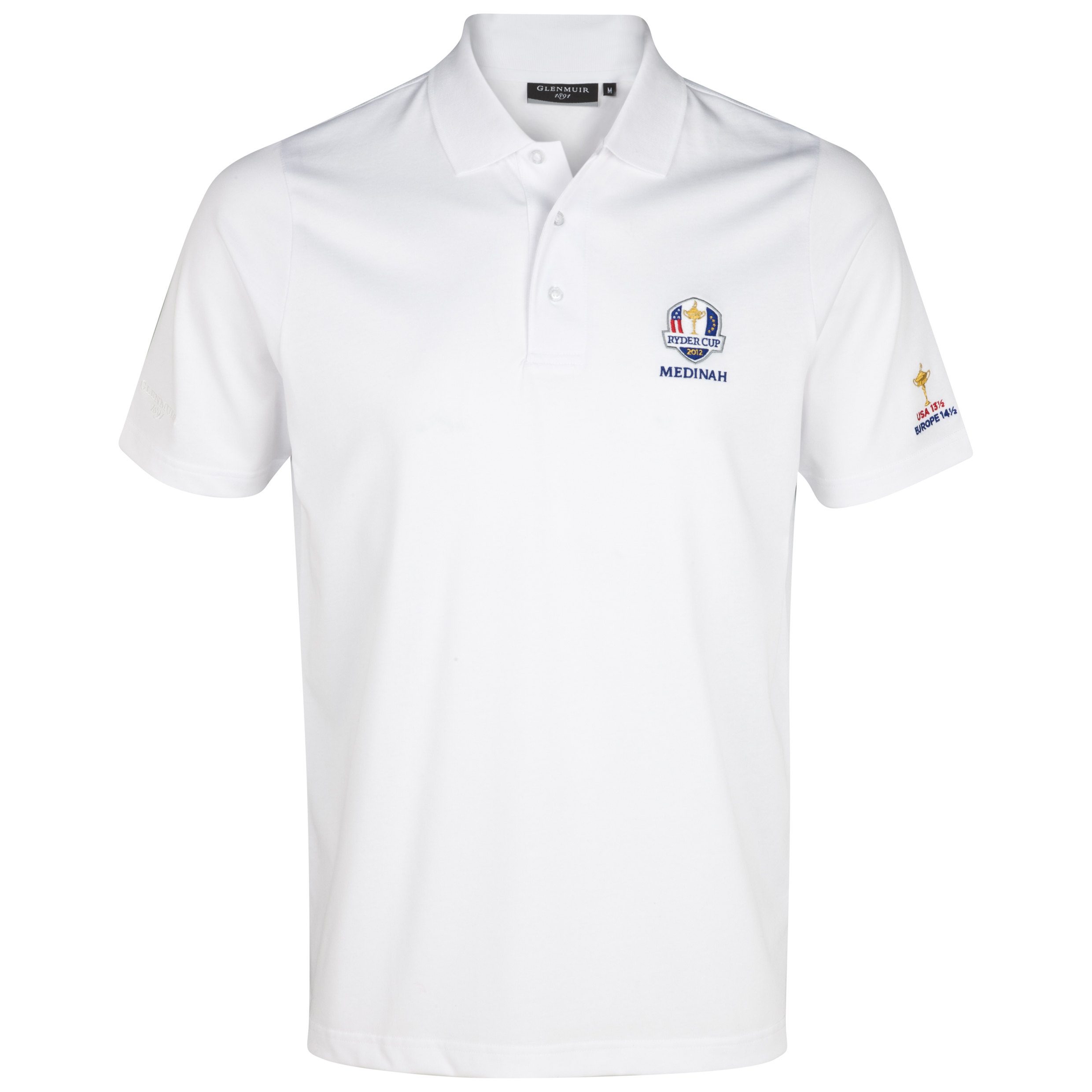 The 2014 Ryder Cup Glenmuir Angus Commemorative Winners Polo - White