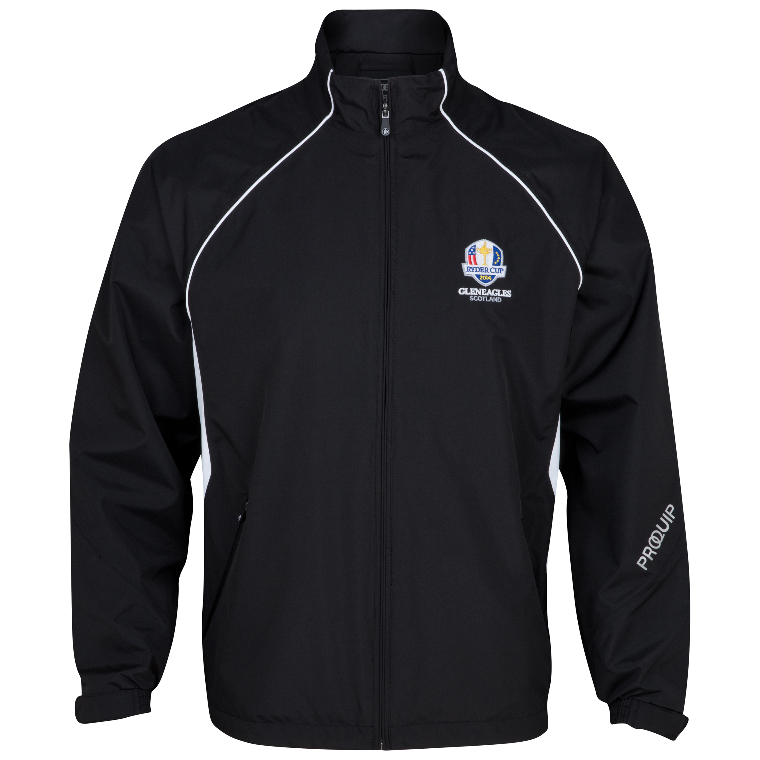 The Ryder Cup Gleneagles 2014 Pro-Quip Ultralite Europa Waterproof Jacket - Black/White
