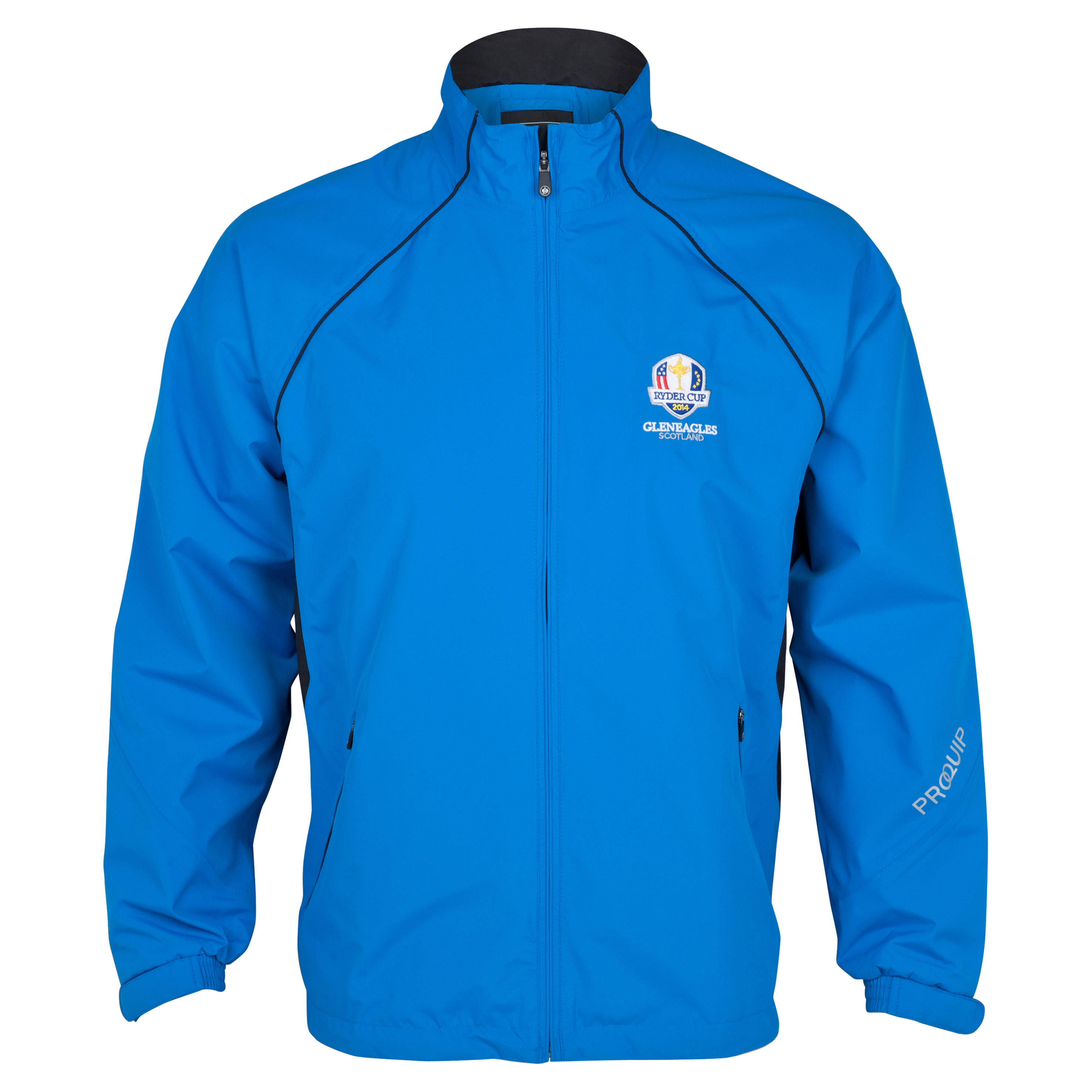 The Ryder Cup Gleneagles 2014 Pro-Quip Ultralite Europa Waterproof Jacket - Blue/White