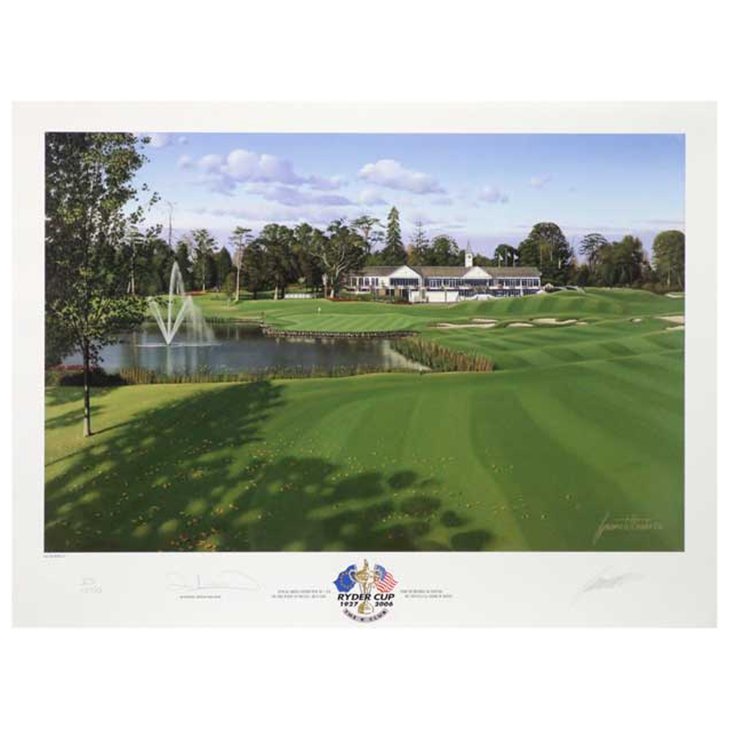 The 2014 Ryder Cup K Club 2006 18th Hole Limited Edition Print
