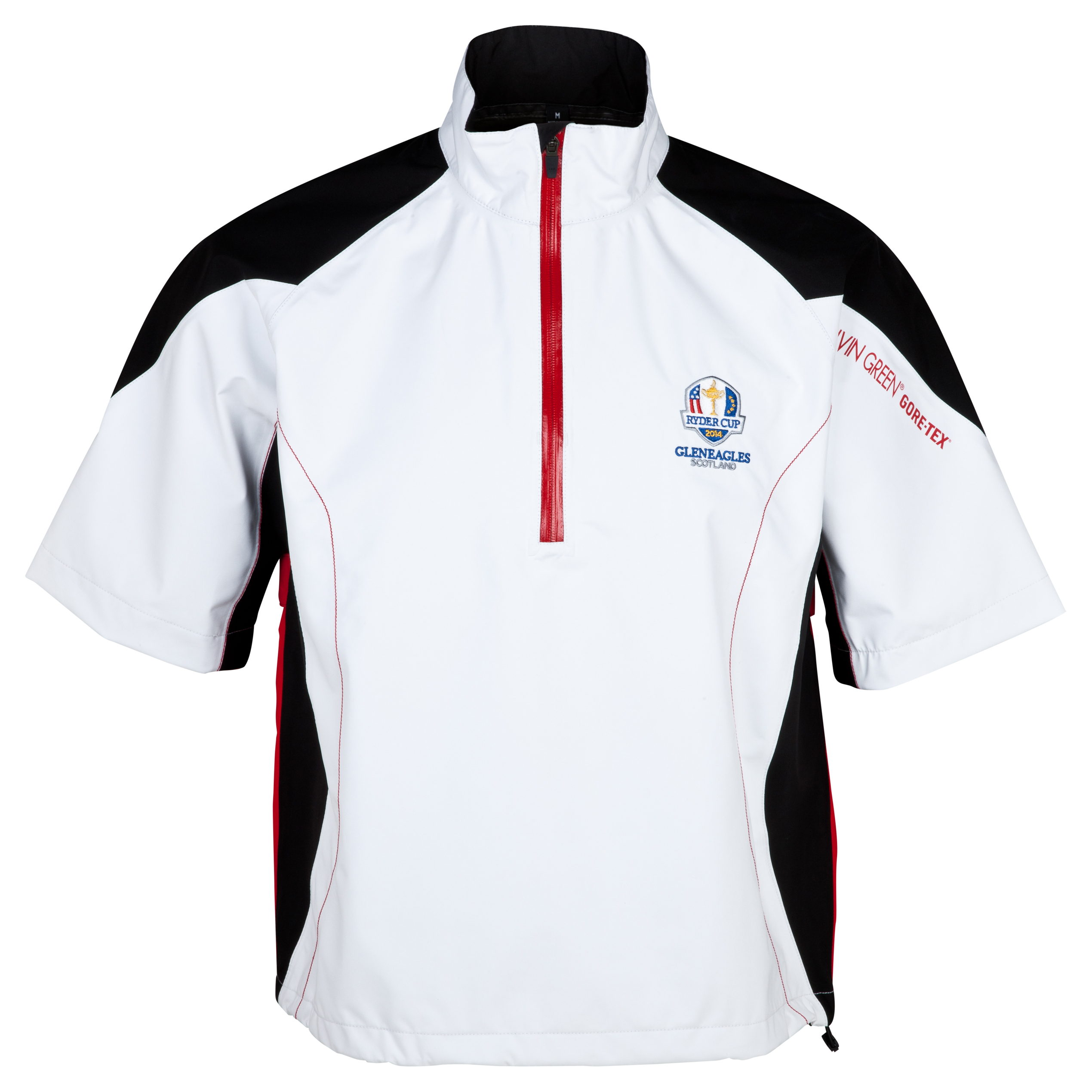 The Ryder Cup Gleneagles 2014 Galvin Green Alvis Half Zip Waterproof Jacket - White/Black