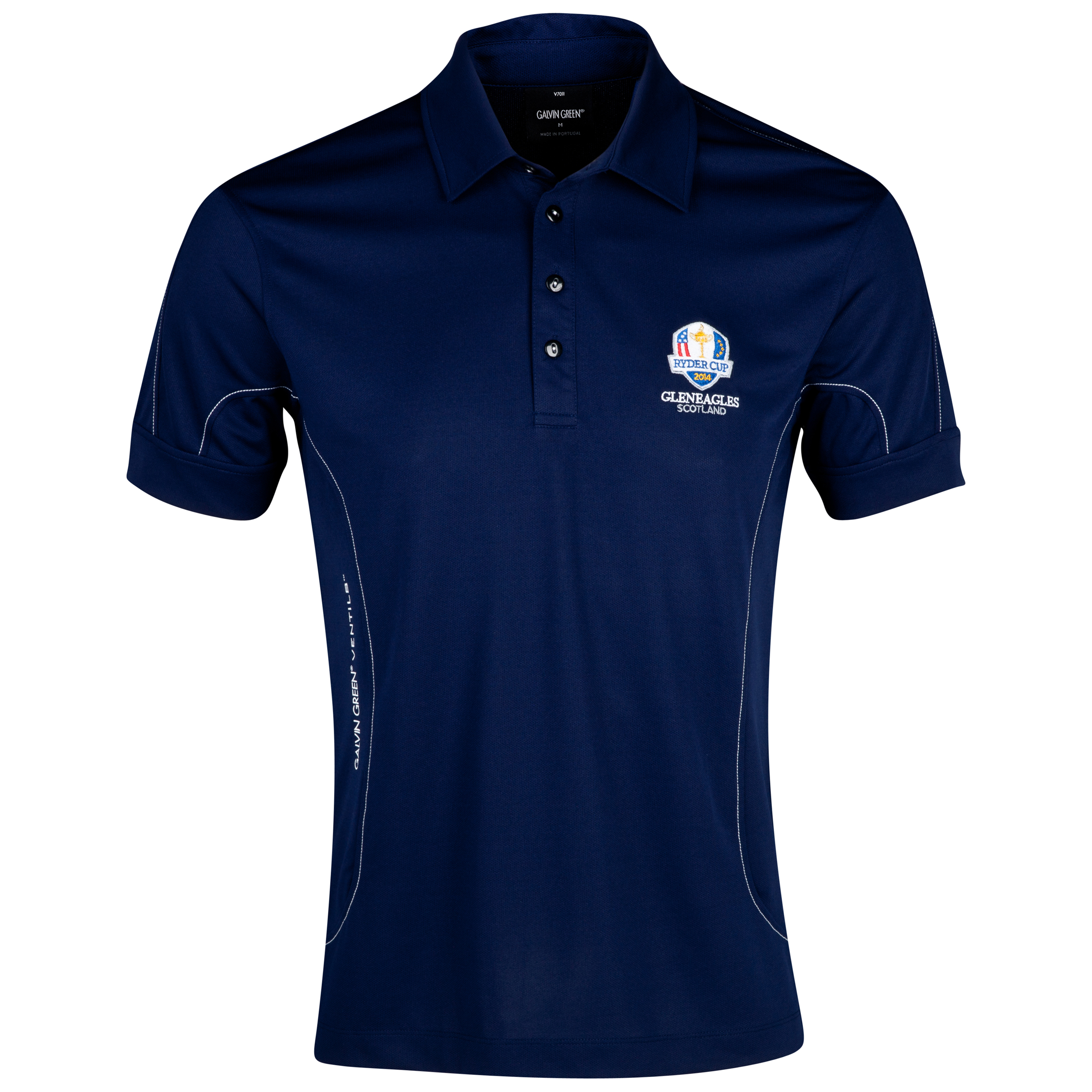 The Ryder Cup Gleneagles 2014 Galvin Green Murphy Ventil8 Technical Polo - Midnight Blue