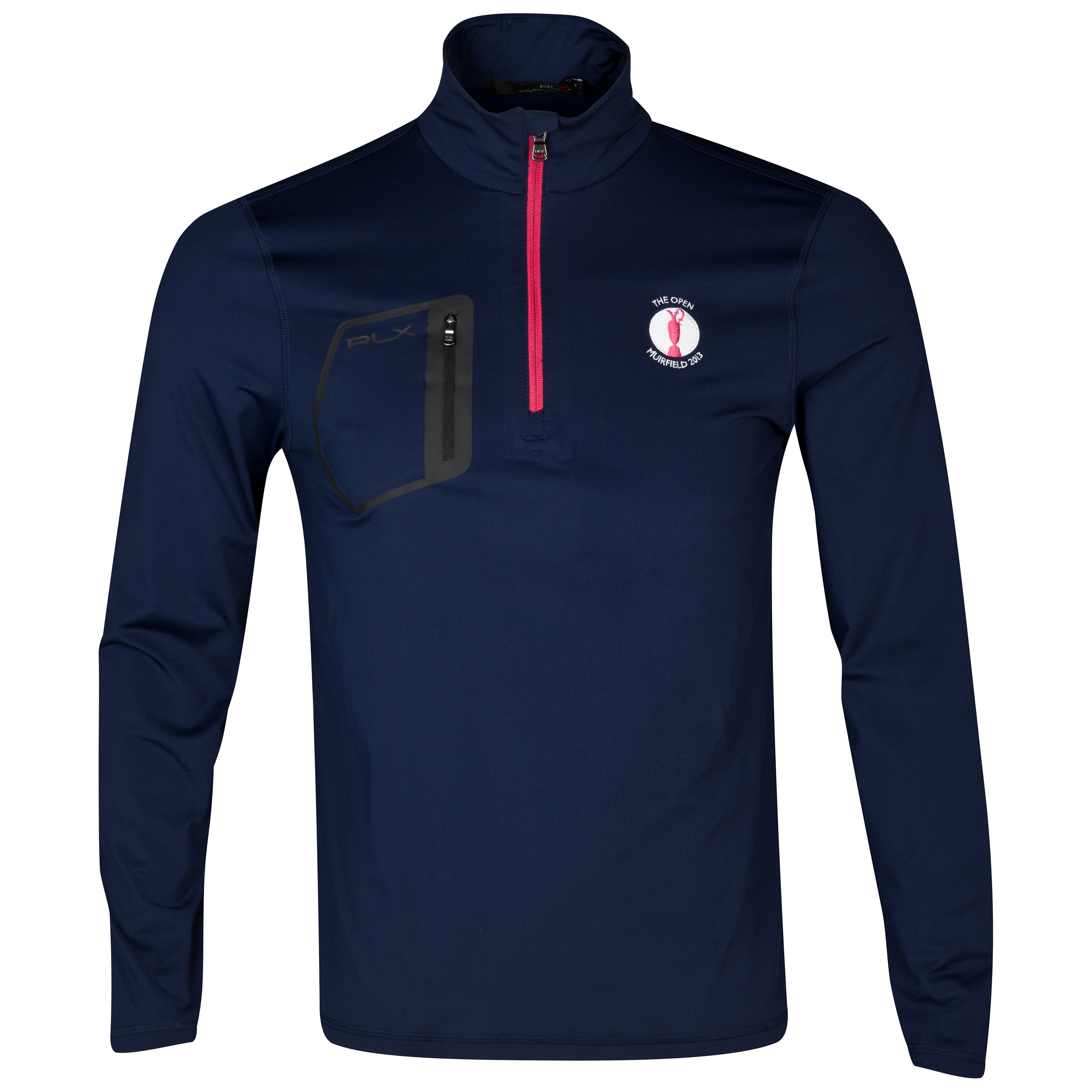 Open Golf The Open Championship 2013 Muirfield Ralph Lauren RLX Full Zip Long Sleeve Half Zip Knit Navy