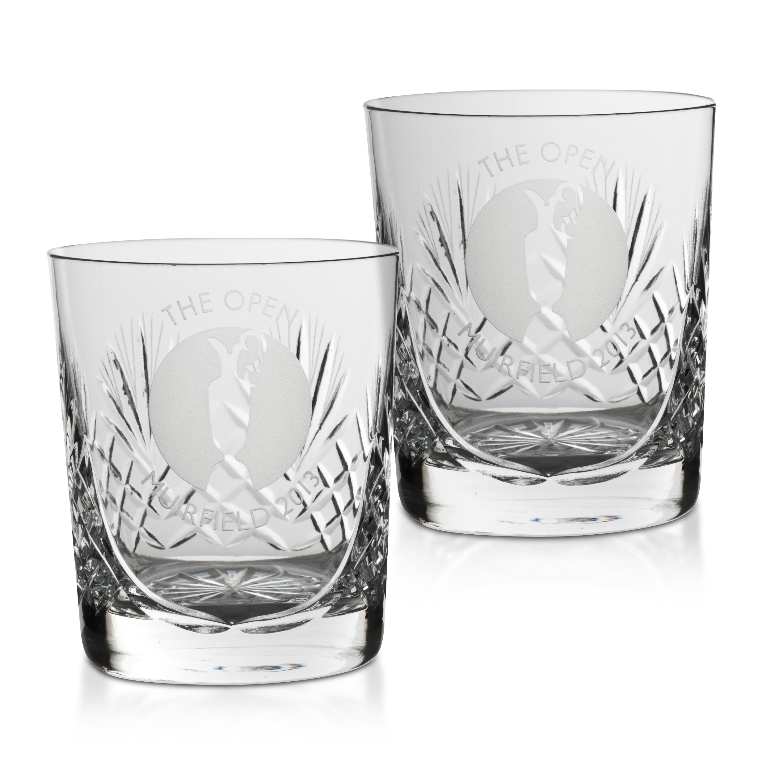 The Open Championship 2013 Muirfield Durham Small Whisky Glass - Pair
