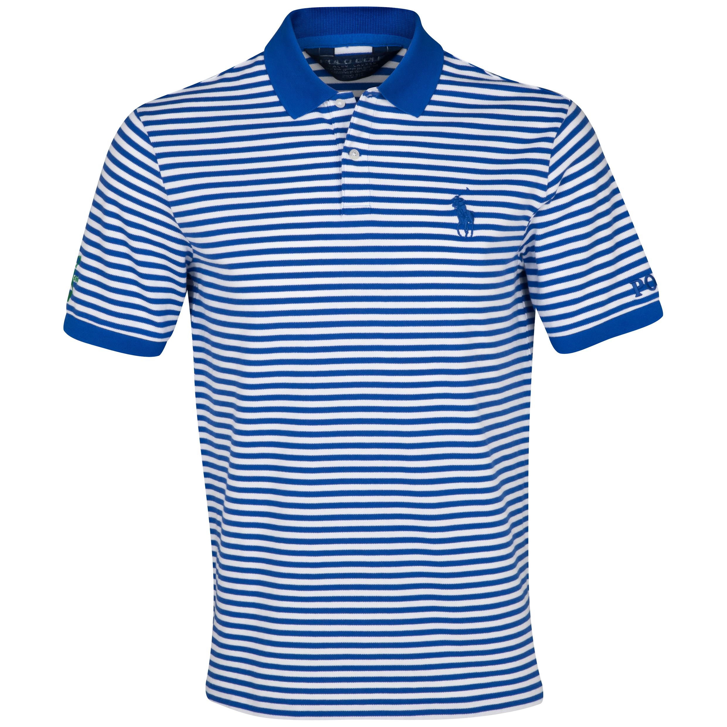 The Open Championship Ralph Lauren Big Pony Stripe Polo Blue
