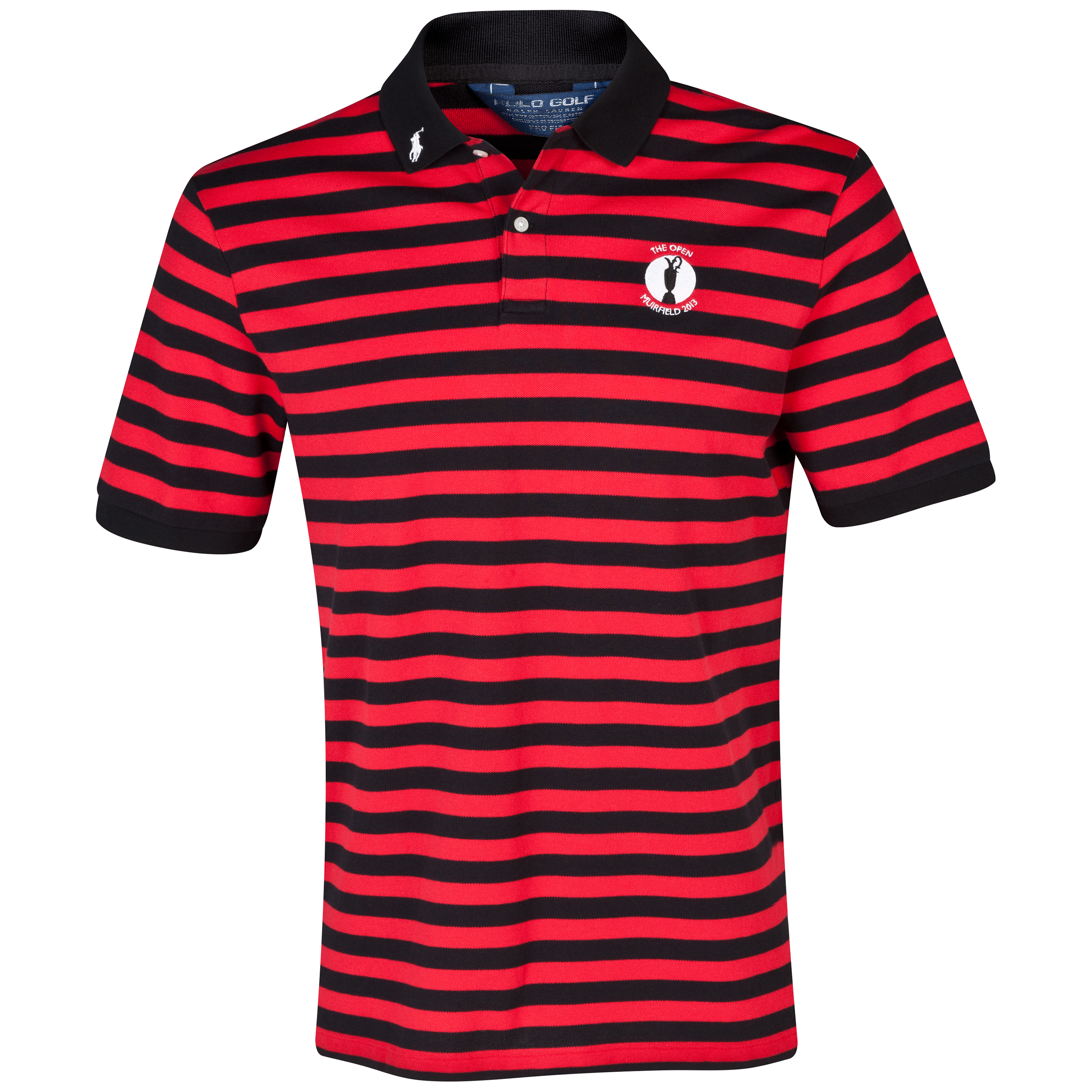 The Open Championship 2013 Muirfield Polo Ralph Lauren Stripe Polo Black