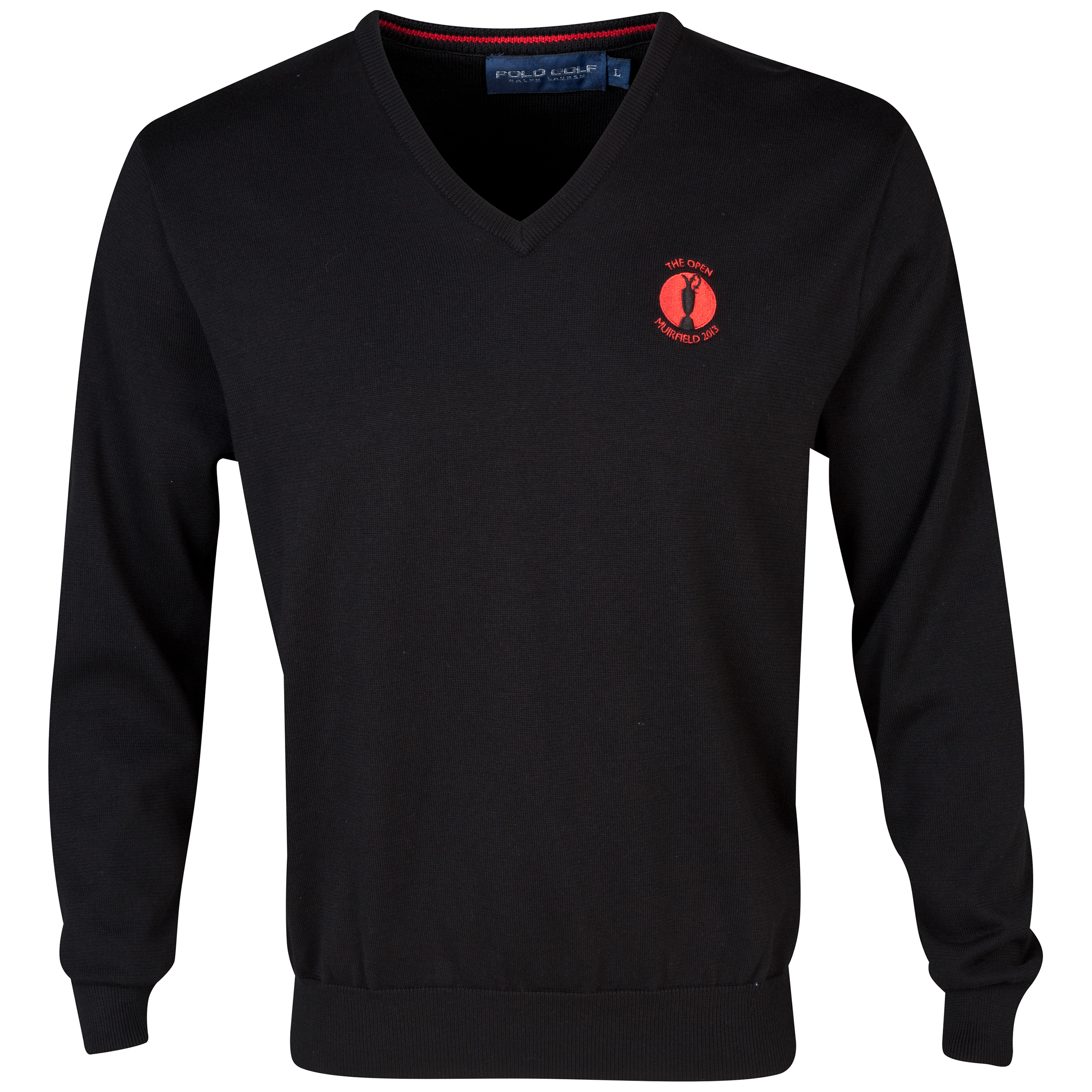 The Open Championship 2013 Muirfield Polo Ralph Lauren V-Neck Sweater Black