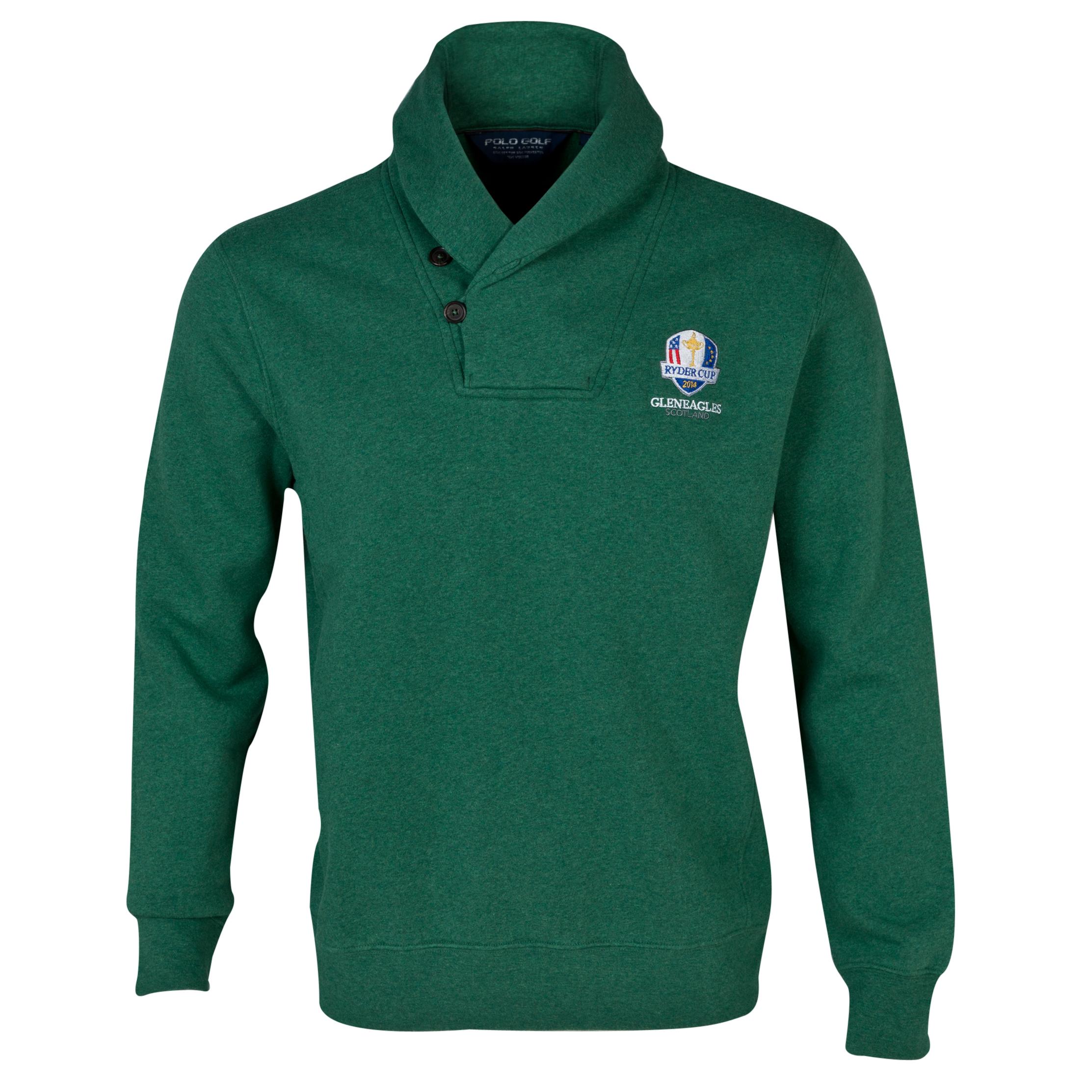 The 2014 Ryder Cup Ralph Lauren Shawl Collar Sweater Green