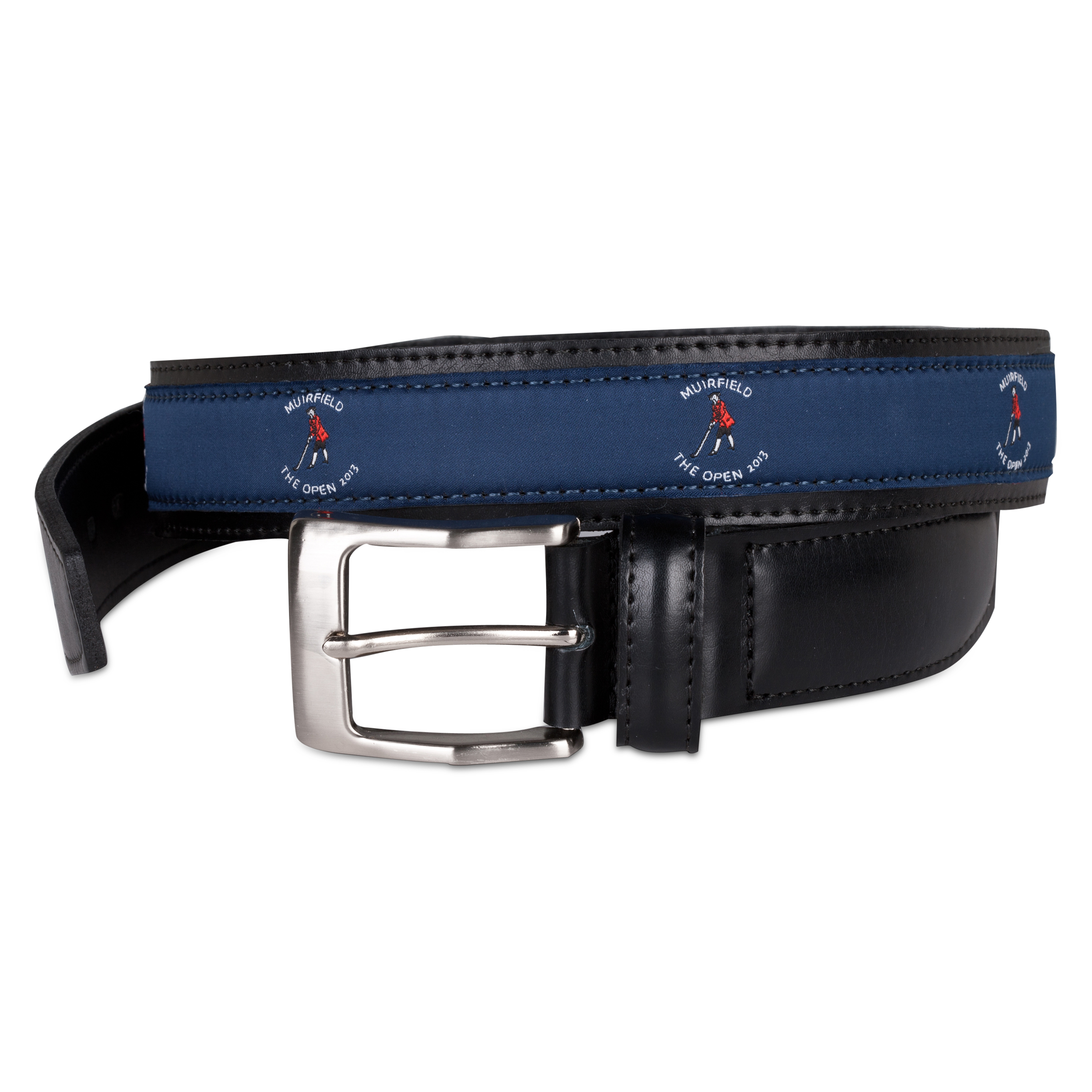The Open Championship Muirfield Leather Belt - Blue Ribbon Blue