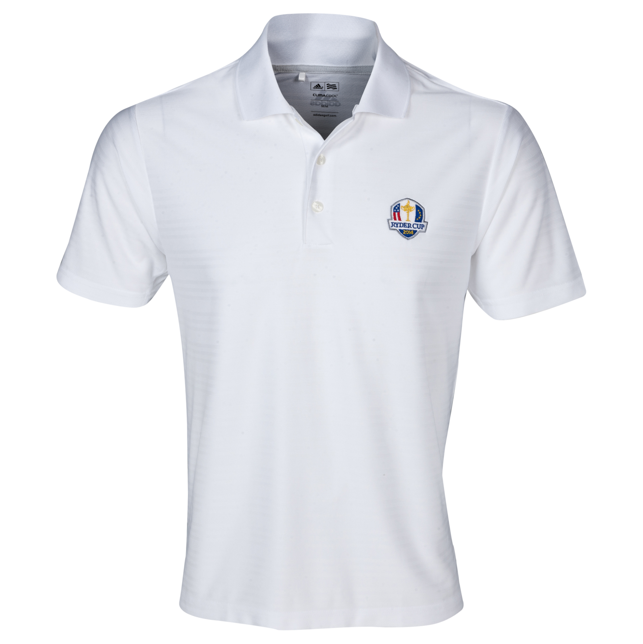 The 2014 Ryder Cup adidas ClimaCool Textured Solid Polo White