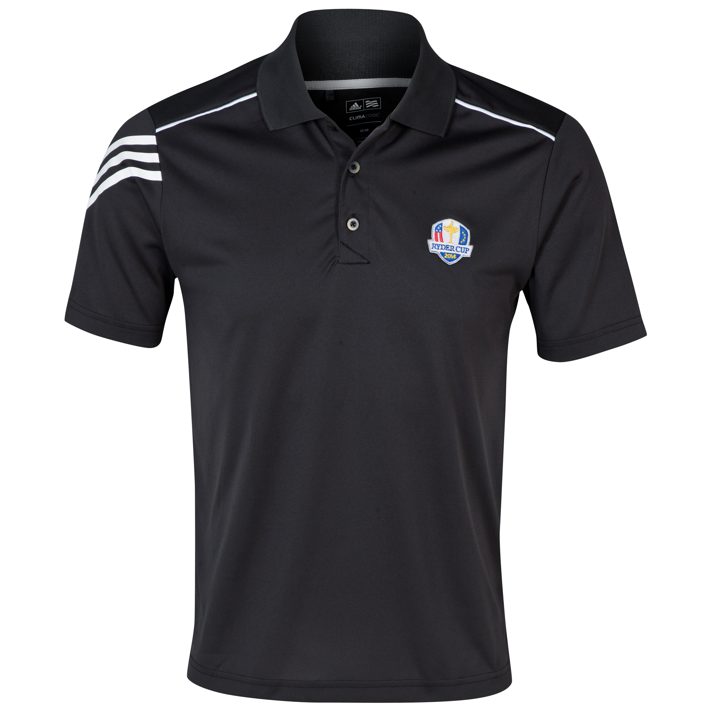 The 2014 Ryder Cup adidas ClimaCool 3-Stripes Polo Black