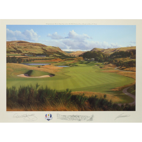 The Ryder Cup Gleneagles 2014 2nd Hole Limited Edition Print
