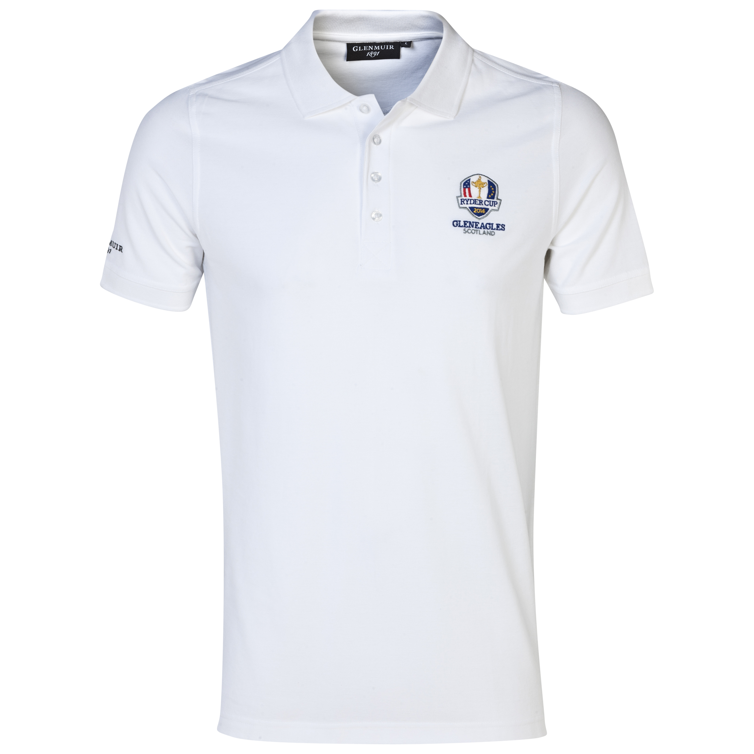 The 2014 Ryder Cup Glenmuir Kinloch Cotton Polo White