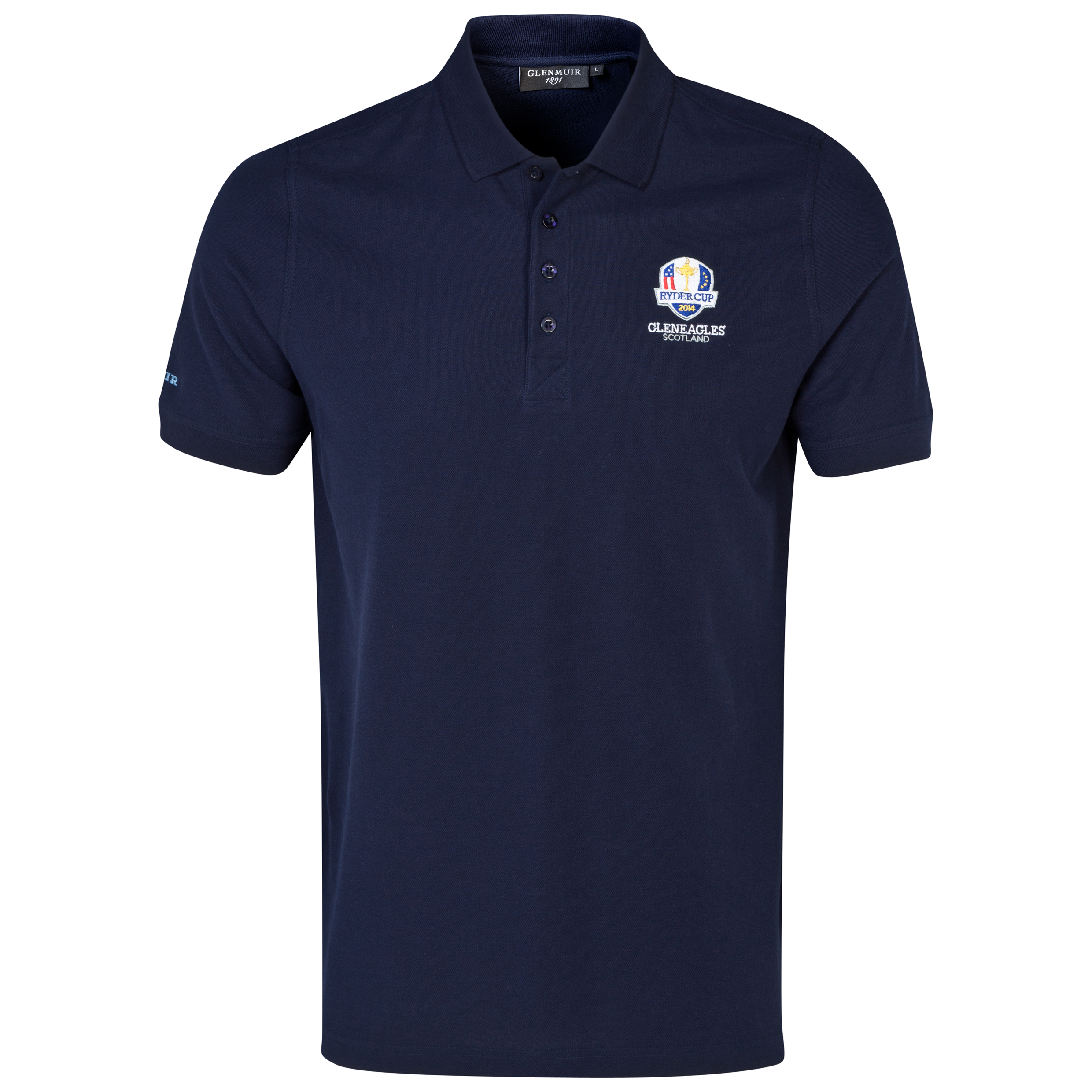 The 2014 Ryder Cup Glenmuir Kinloch Cotton Polo Navy