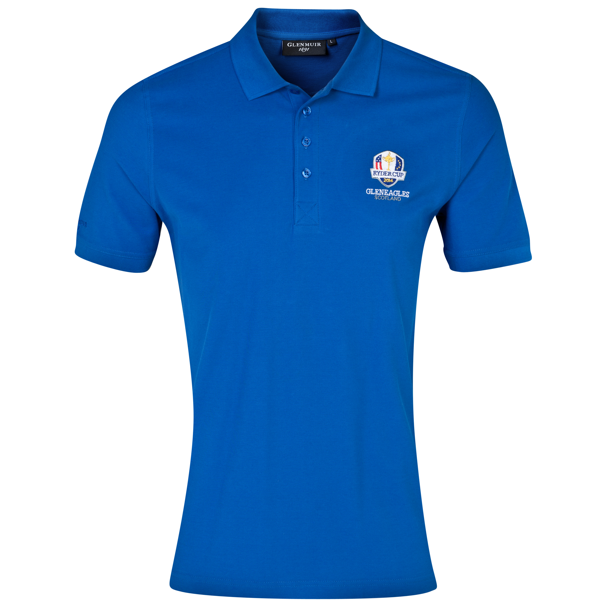 The 2014 Ryder Cup Glenmuir Kinloch Cotton Polo Blue