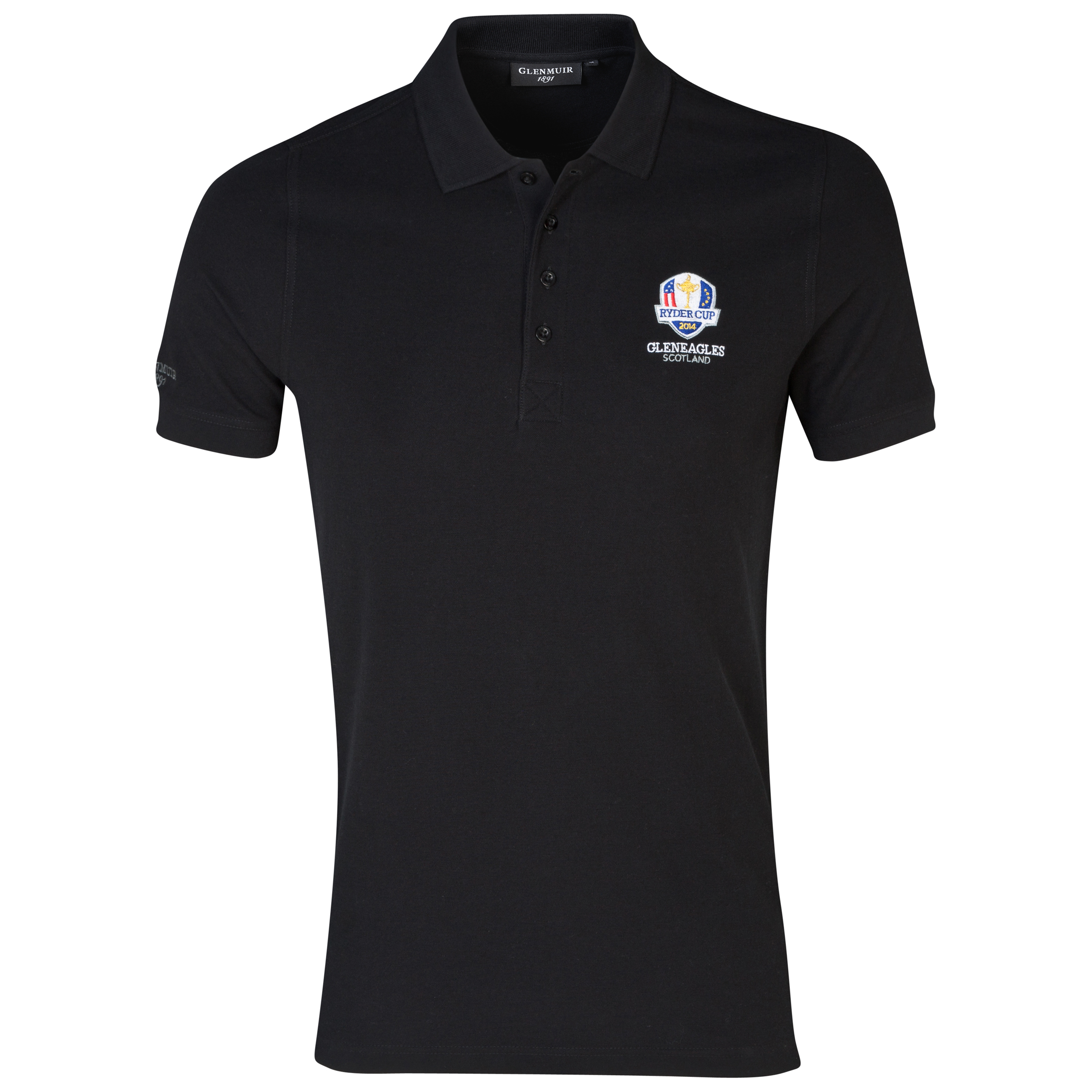 The 2014 Ryder Cup Glenmuir Kinloch Cotton Polo Black