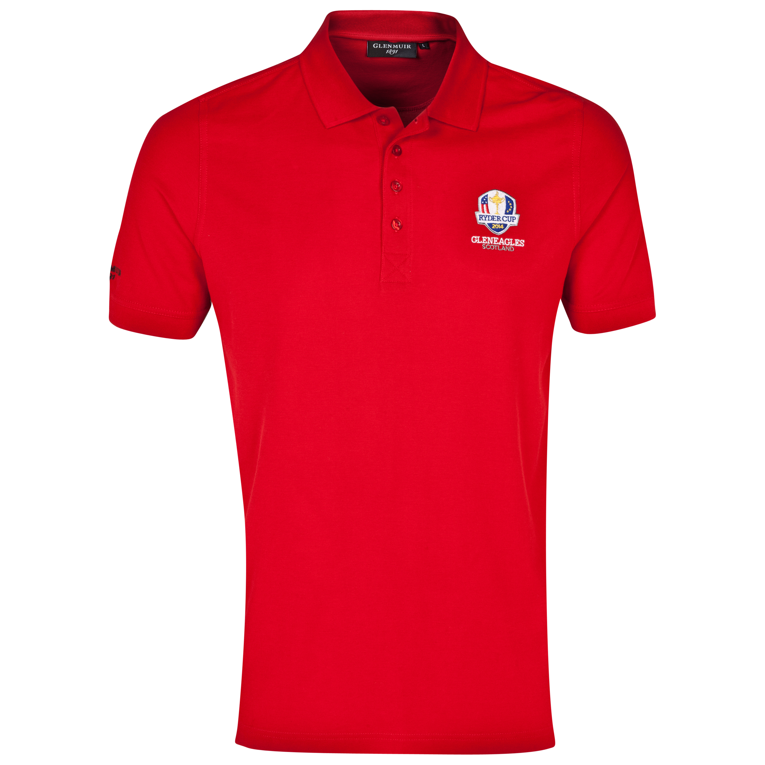 The 2014 Ryder Cup Glenmuir Kinloch Cotton Polo Red