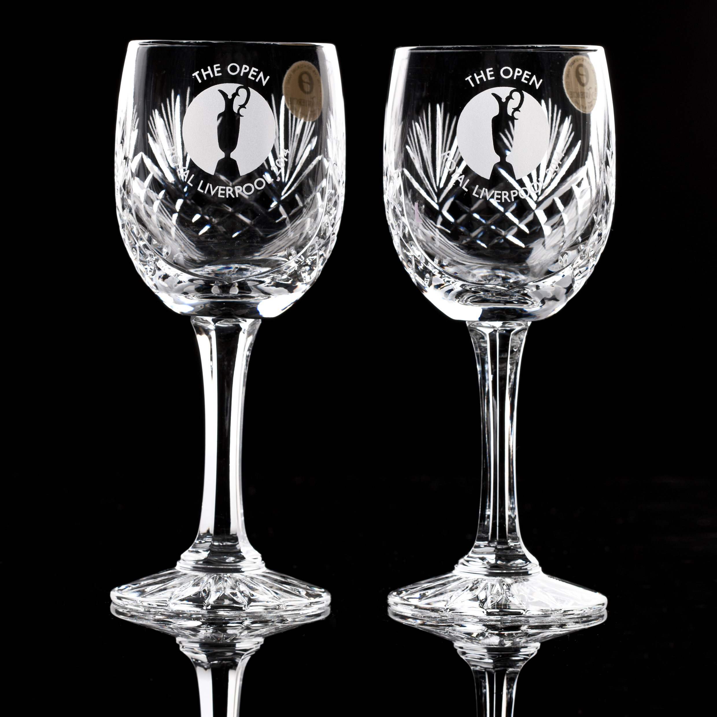 The Open Championship Royal Liverpool 2014 Durham Small Wine Glass - Pair