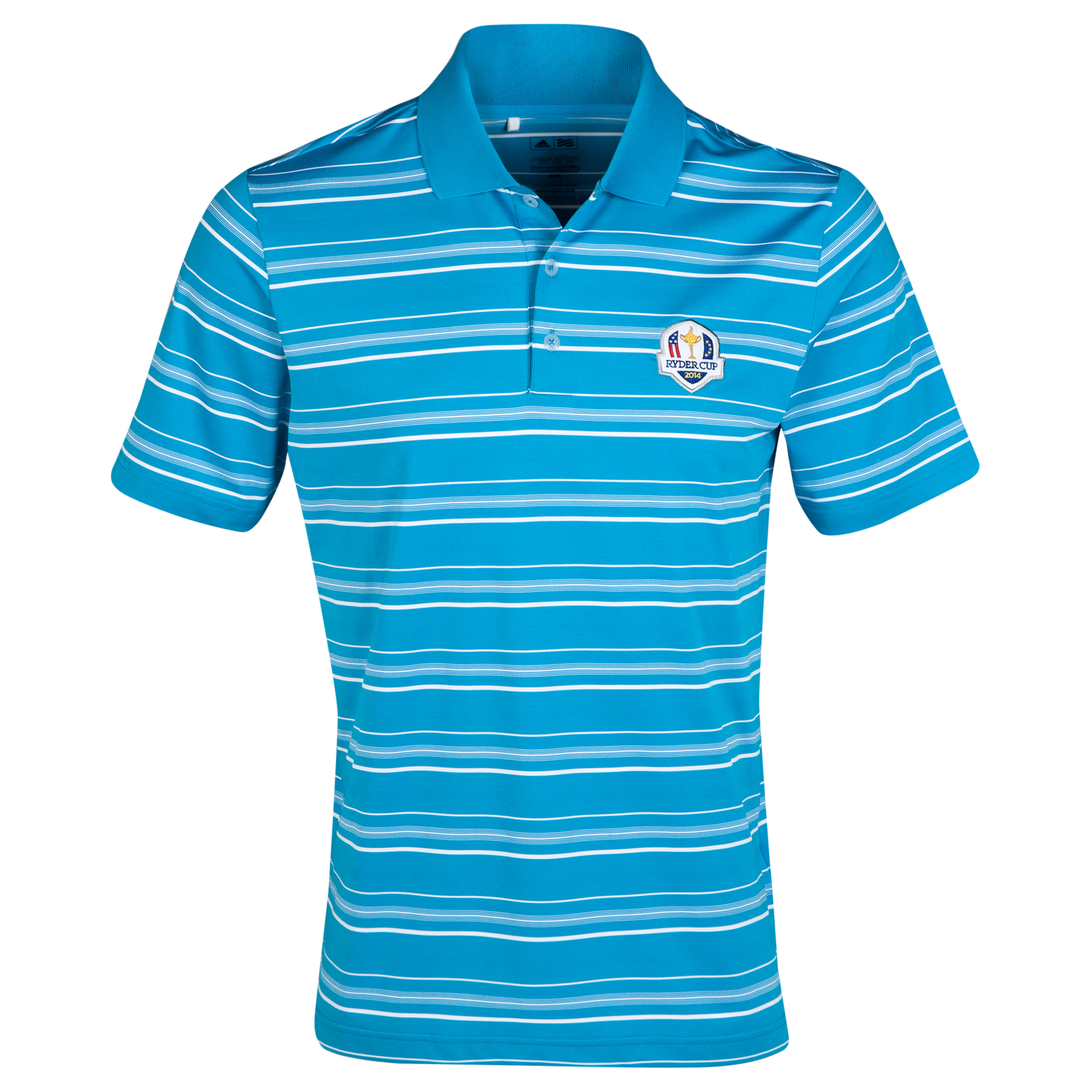 The 2014 Ryder Cup ClimaLite 2-Colour Stripe Polo Sky Blue