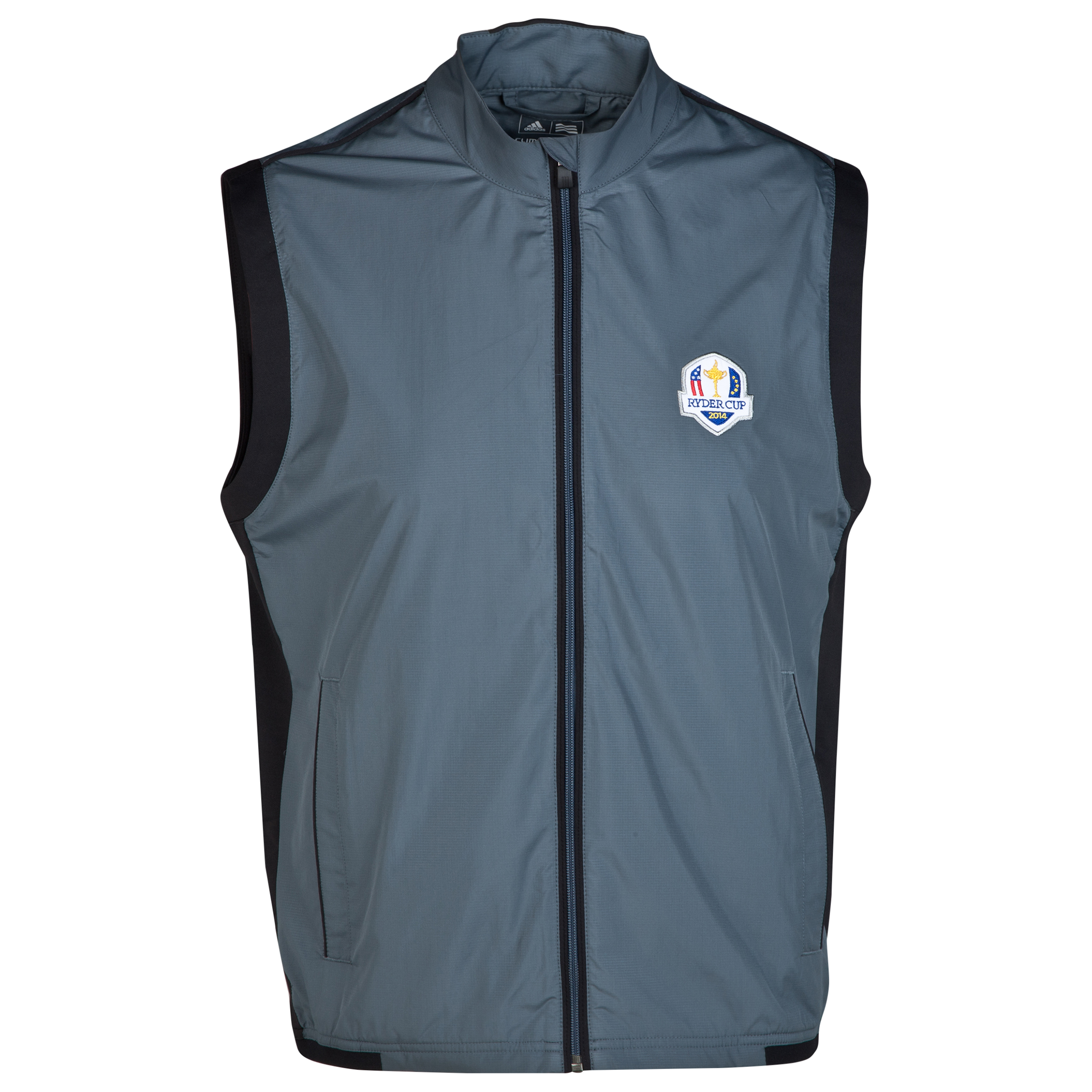 The 2014 Ryder Cup adidas ClimaProof Stretch Wind Vest Dk Grey