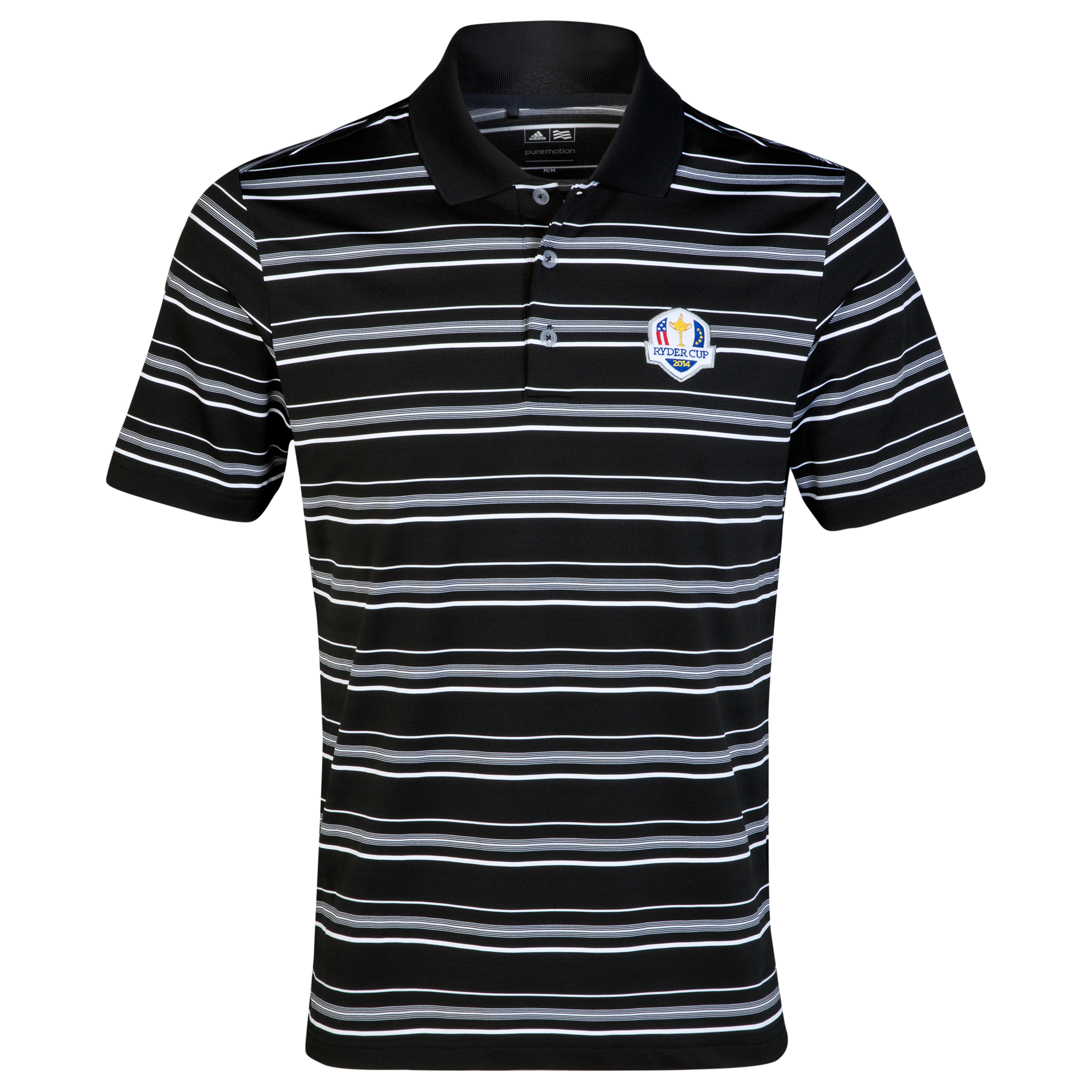 The 2014 Ryder Cup adidas ClimaLite 2-Colour Stripe Polo Black
