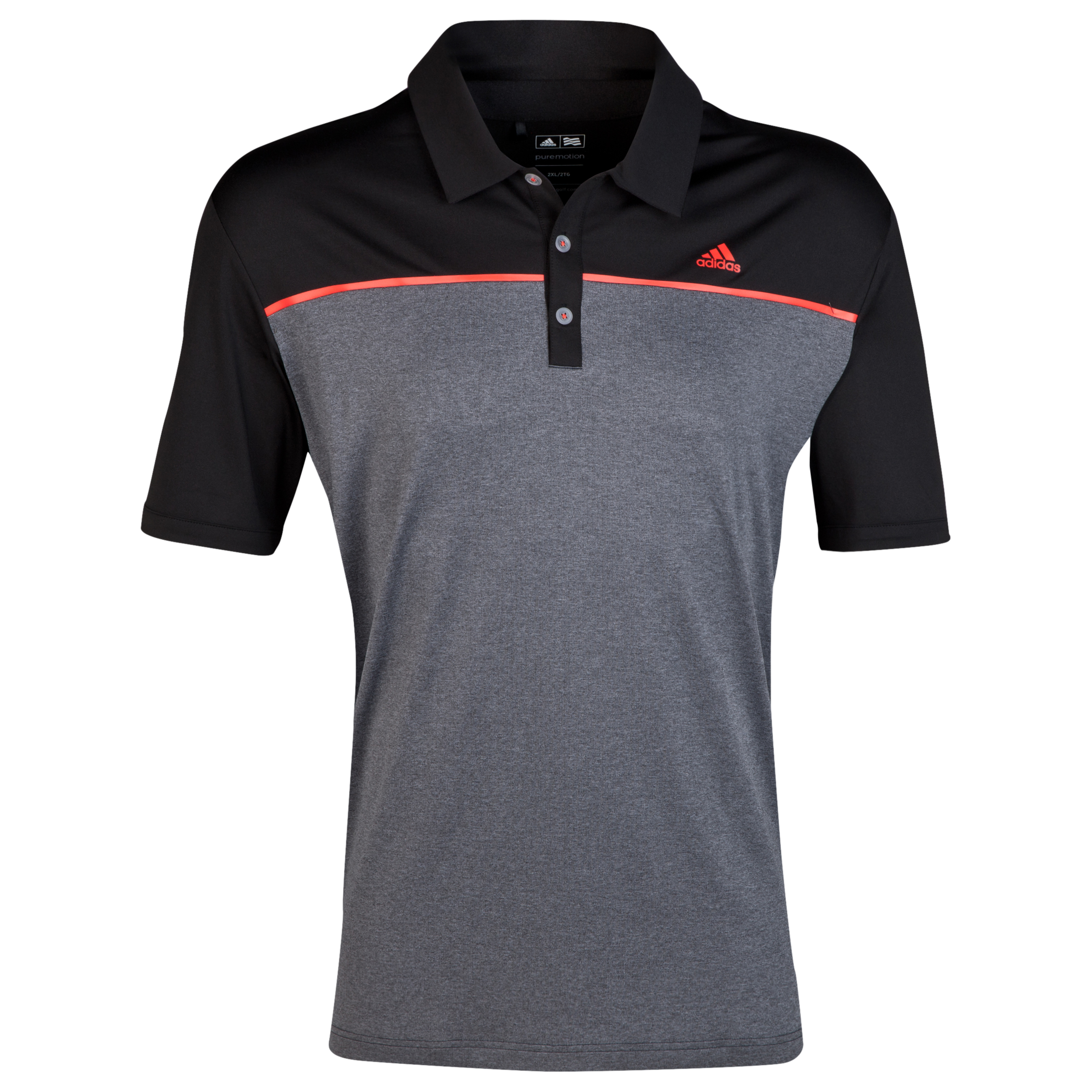 The 2014 Ryder Cup adidas ClimaLite Heather Block Polo Black