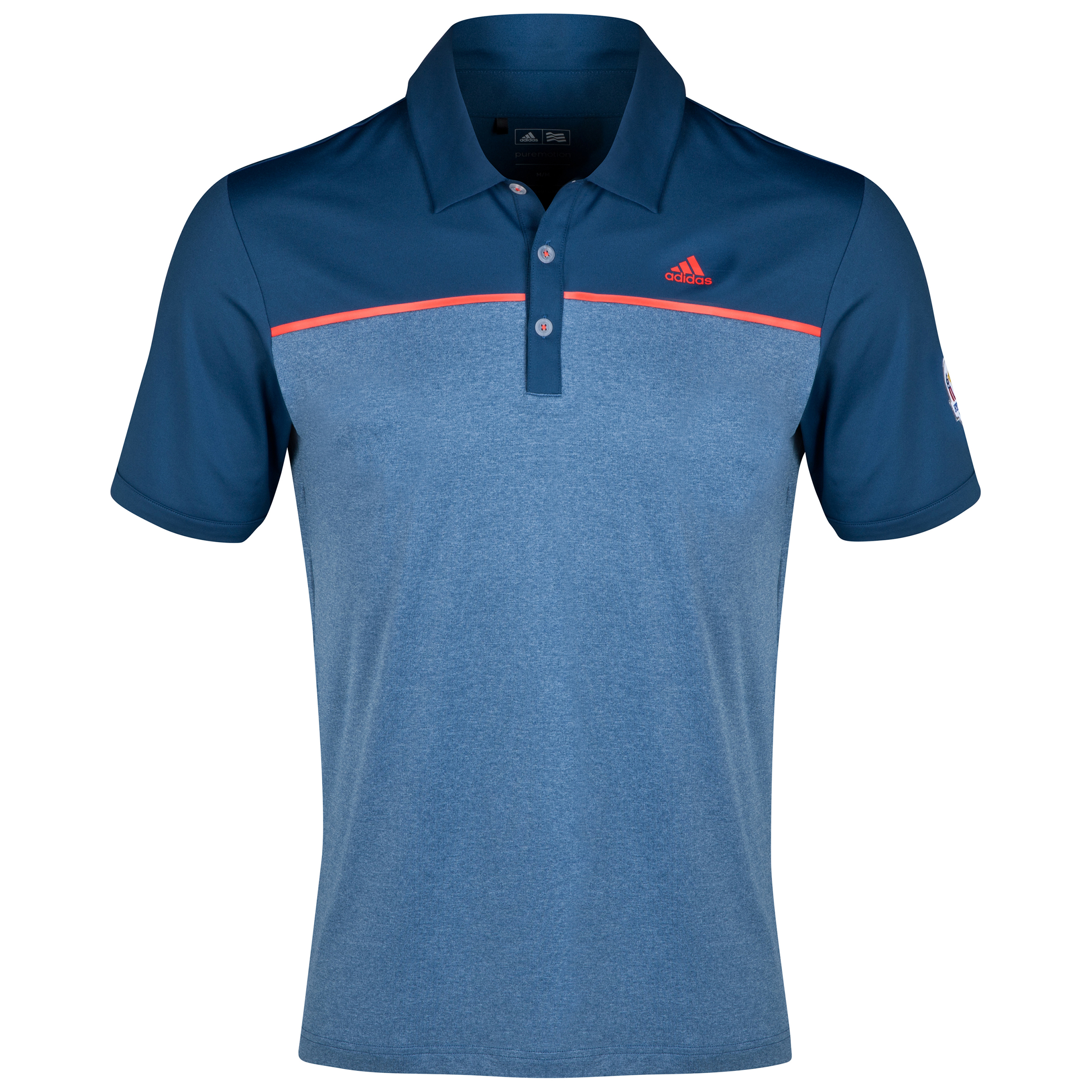 The 2014 Ryder Cup adidas ClimaLite Heather Block Polo Navy