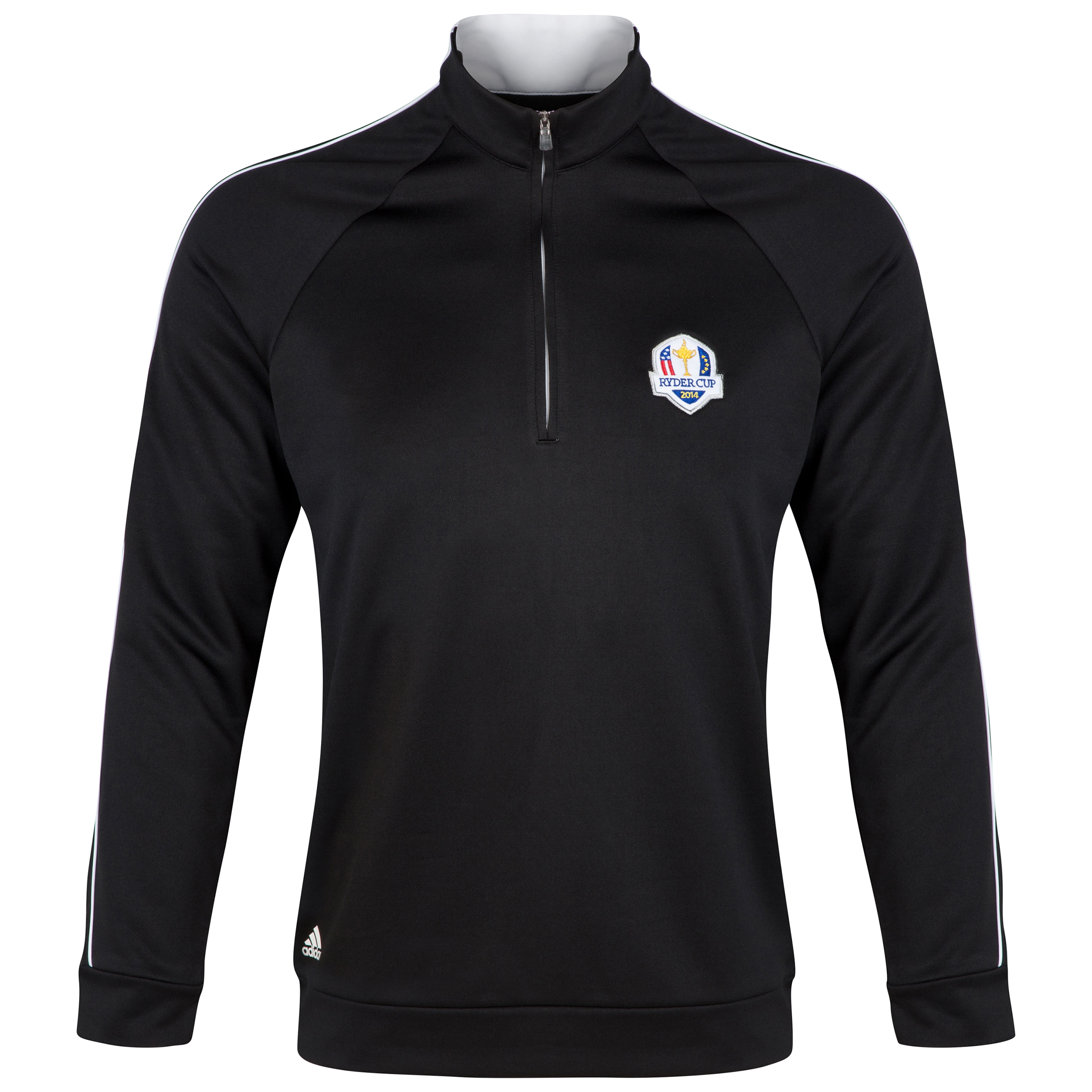 The 2014 Ryder Cup adidas ClimaLite 1/4 Zip Contrast Layering Piece Black