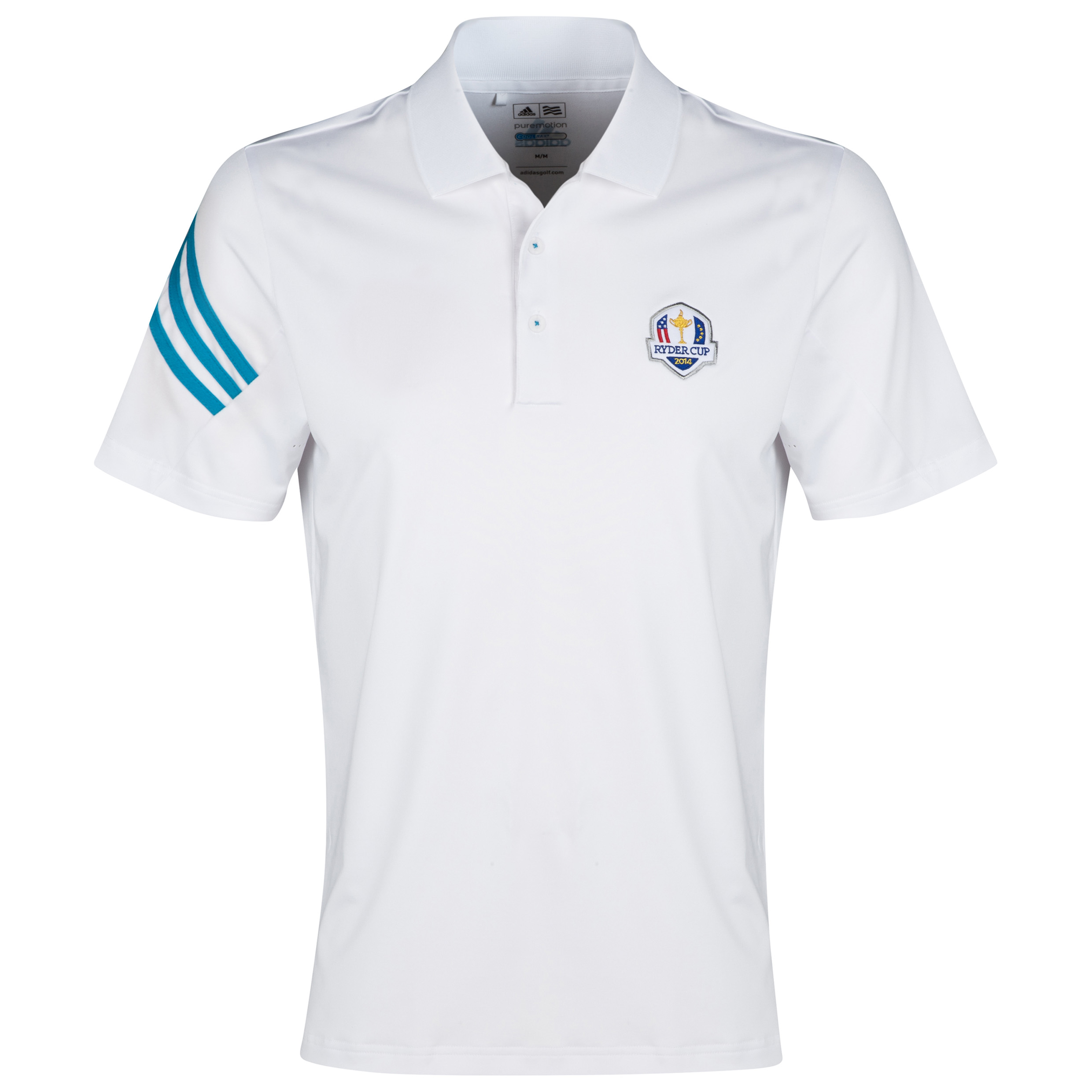 The 2014 Ryder Cup adidas ClimaLite 3-Stripes Polo White