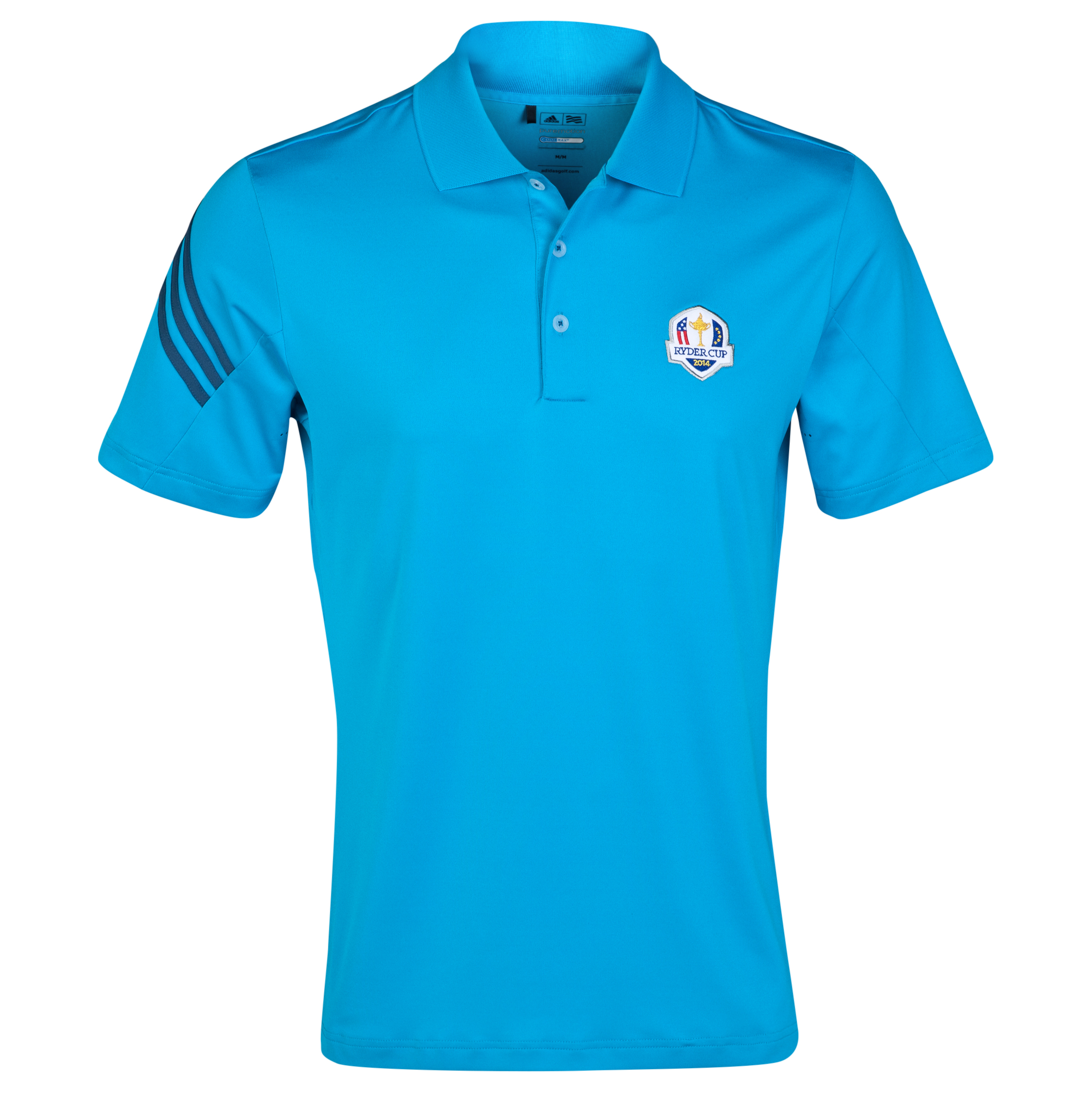 The 2014 Ryder Cup adidas ClimaLite 3-Stripes Polo Sky Blue