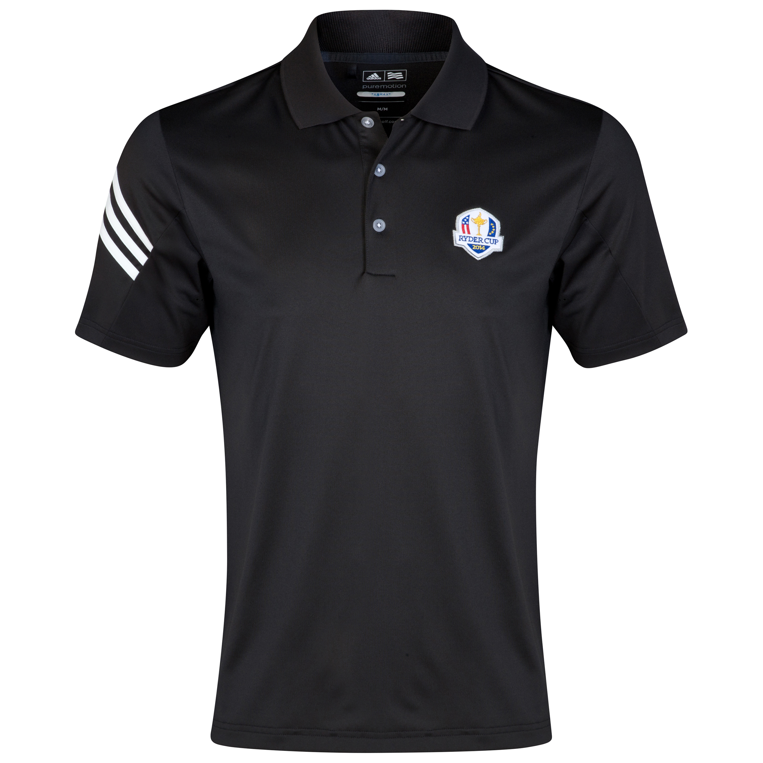 The 2014 Ryder Cup adidas ClimaLite 3-Stripes Polo Black