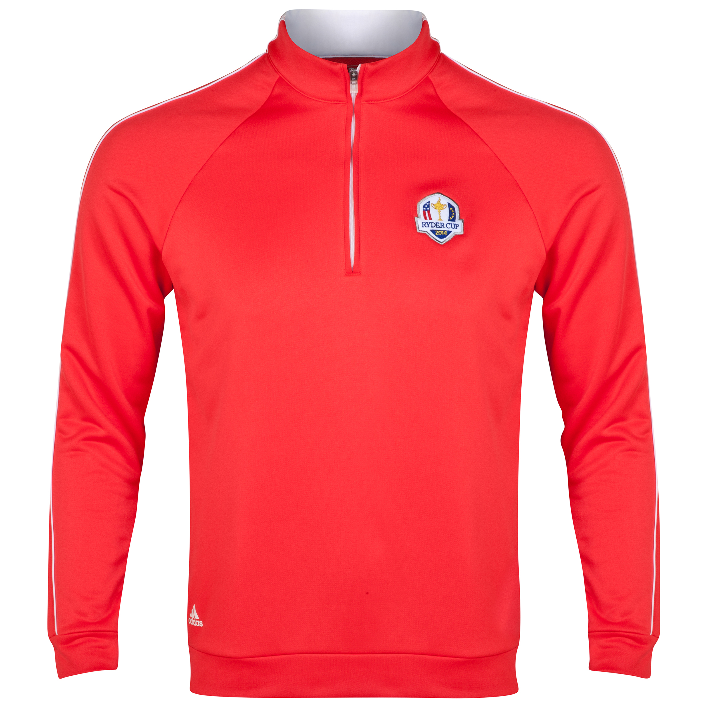 The 2014 Ryder Cup adidas ClimaLite 1/4 Zip Contrast Layering Piece Red