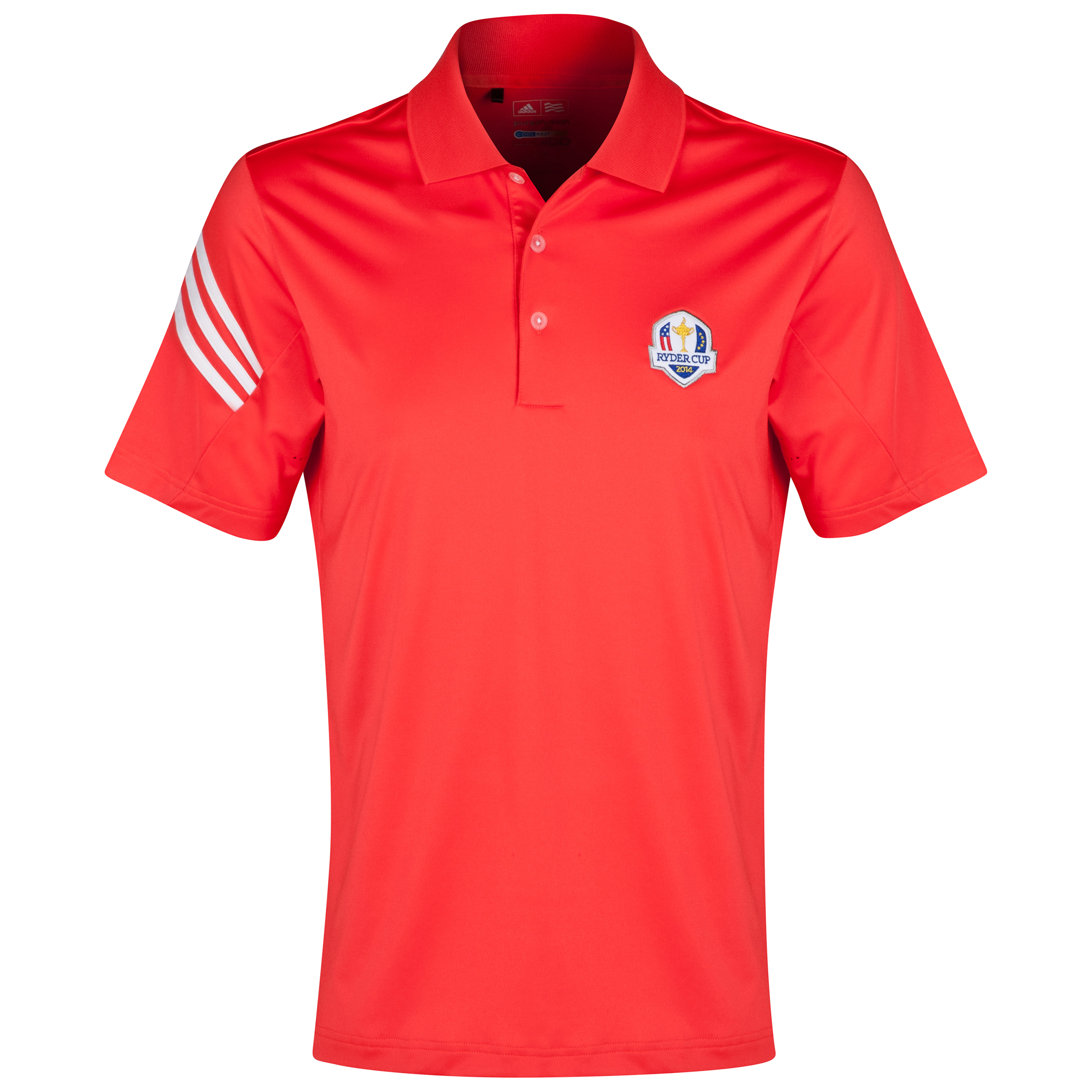 The 2014 Ryder Cup adidas ClimaLite 3-Stripes Polo Red