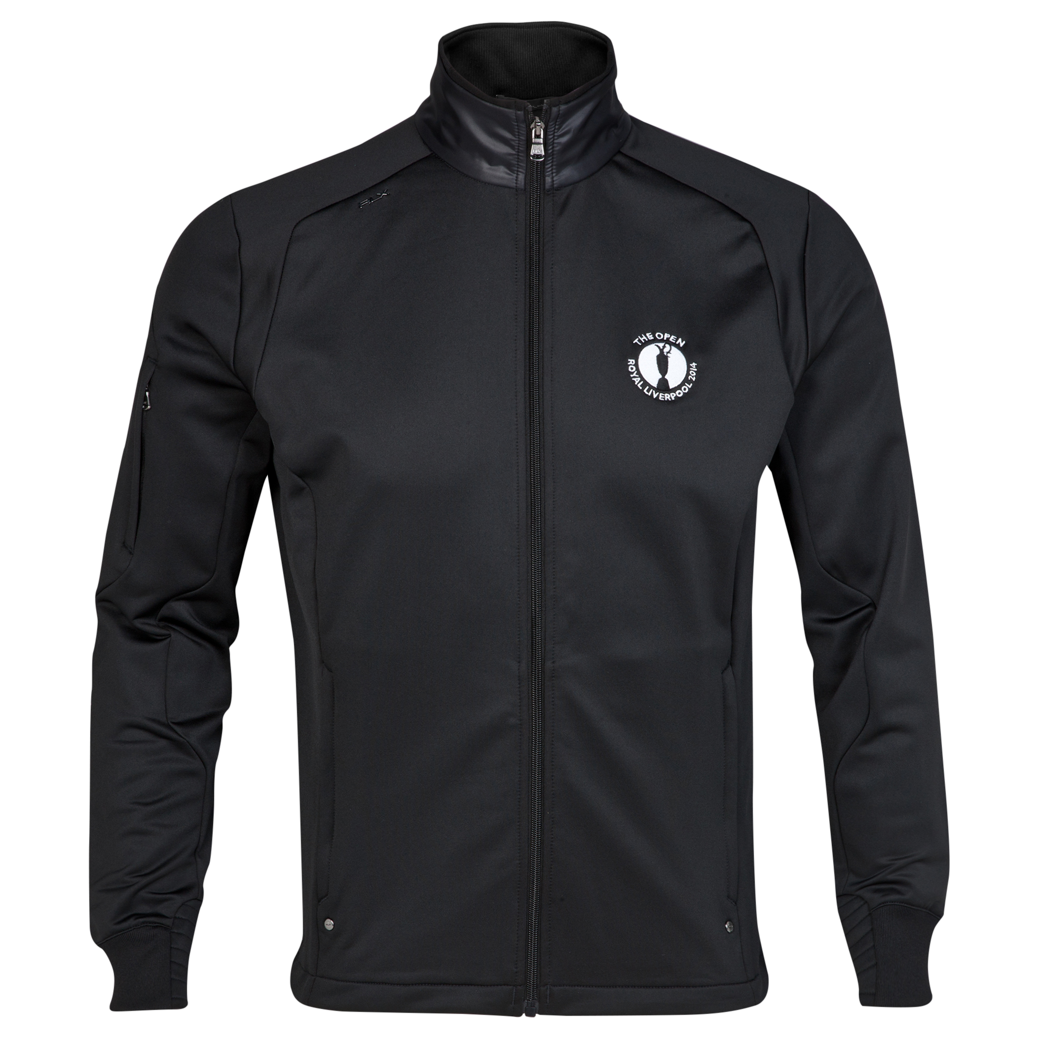 The Open Championship Royal Liverpool 2014 RLX Long Sleeve Full Zip Mock Neck Black