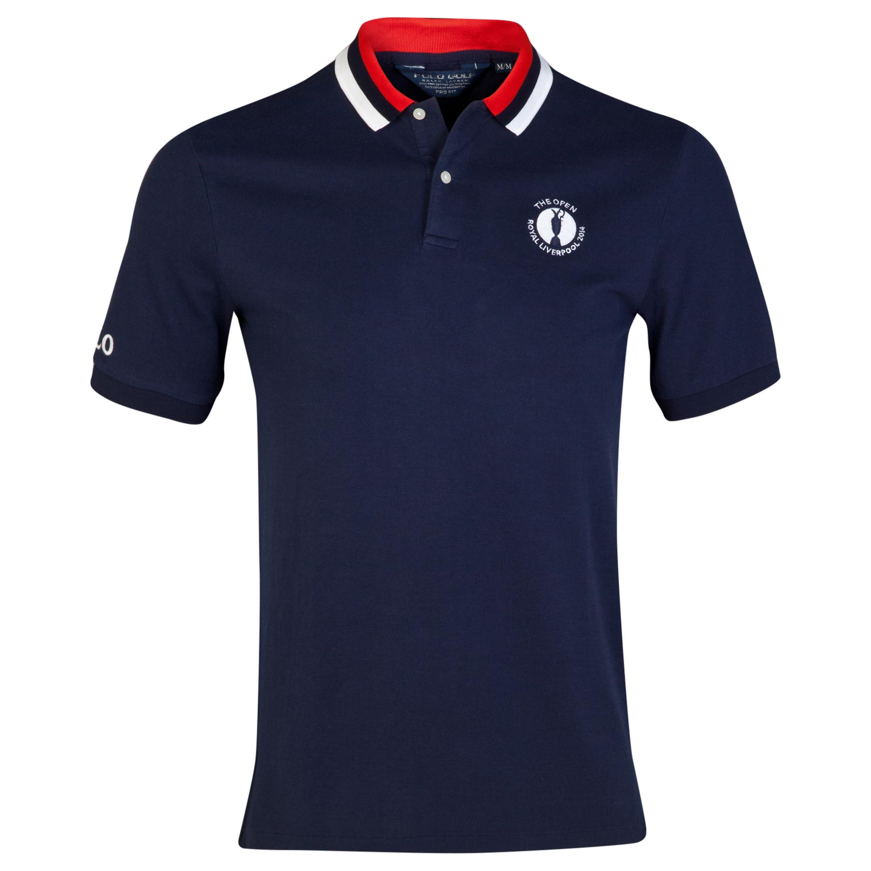 The Open Championship Royal Liverpool 2014 Ralph Lauren Contrast Collar Polo Navy
