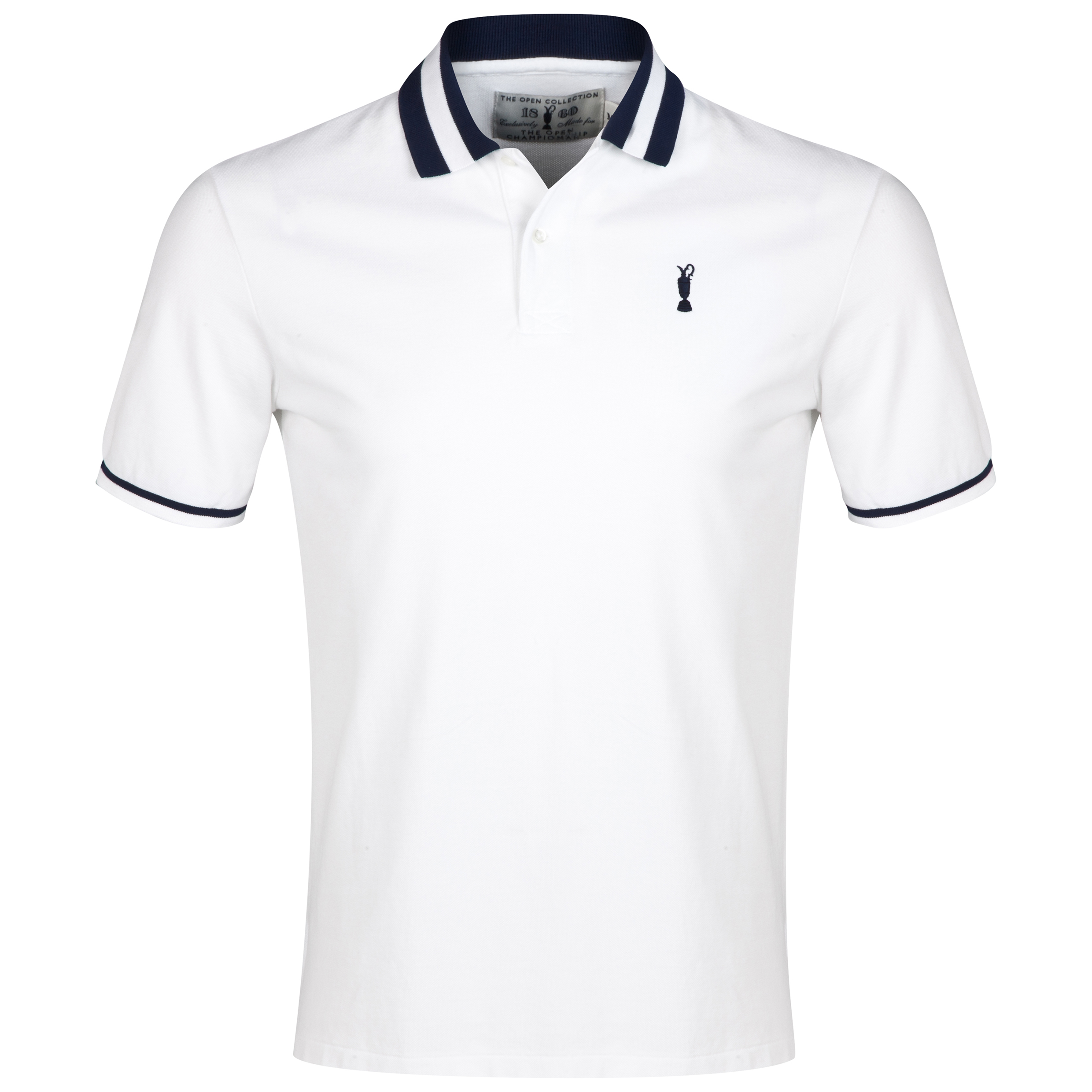 The Open Championship Collection Stripe Polo - White
