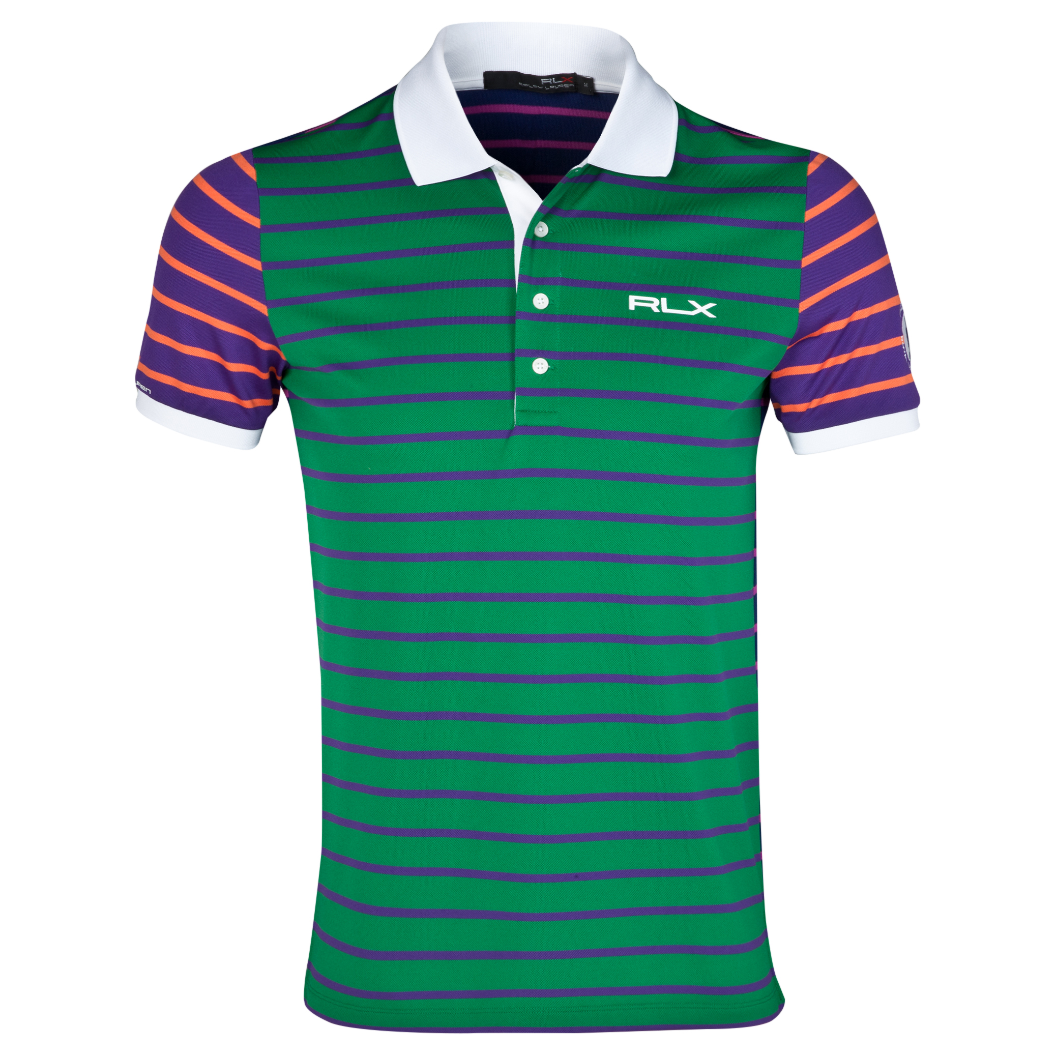 The Open Championship Royal Liverpool 2014 RLX Print Jersey Polo Green