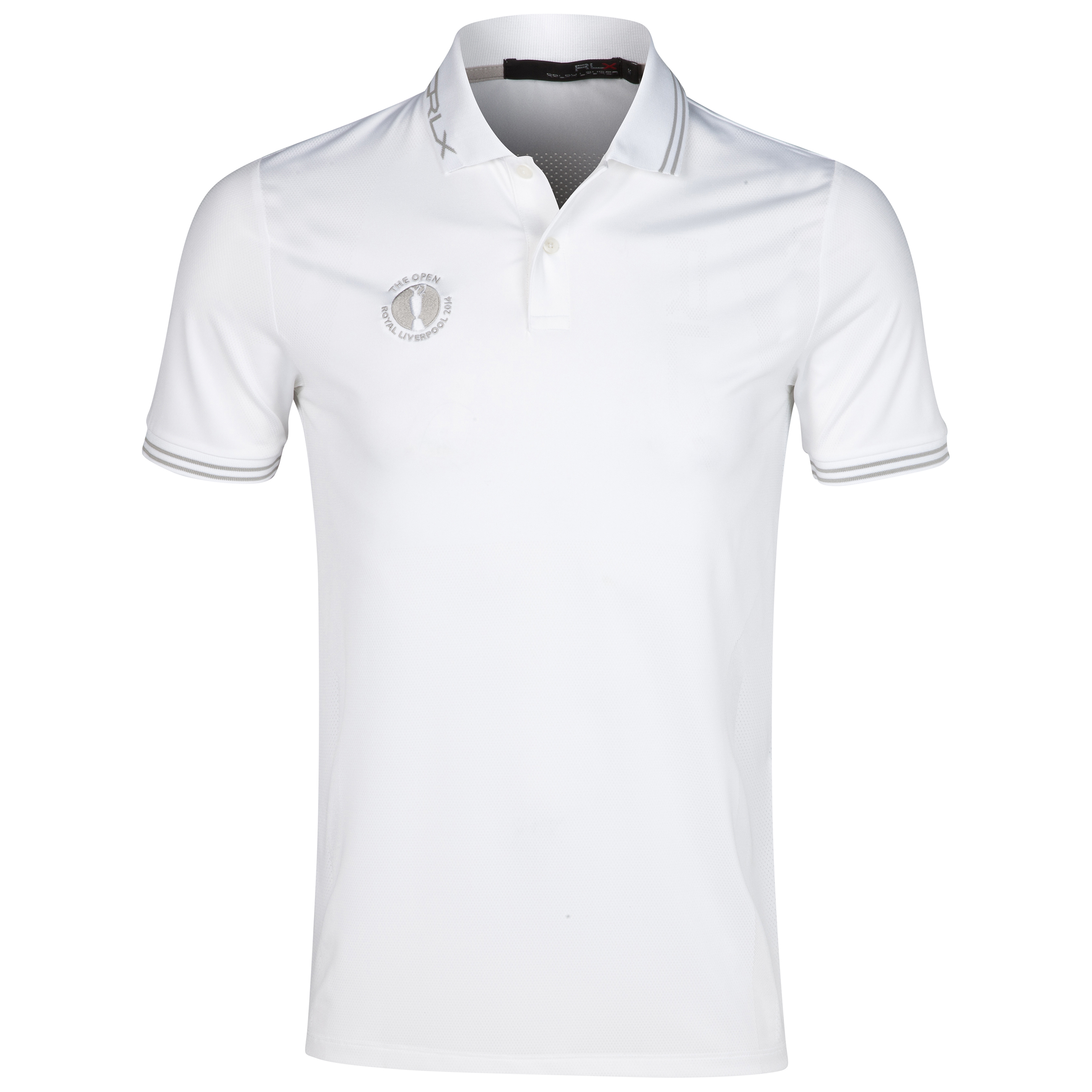 The Open Championship Royal Liverpool 2014 RLX Tipped Polo White