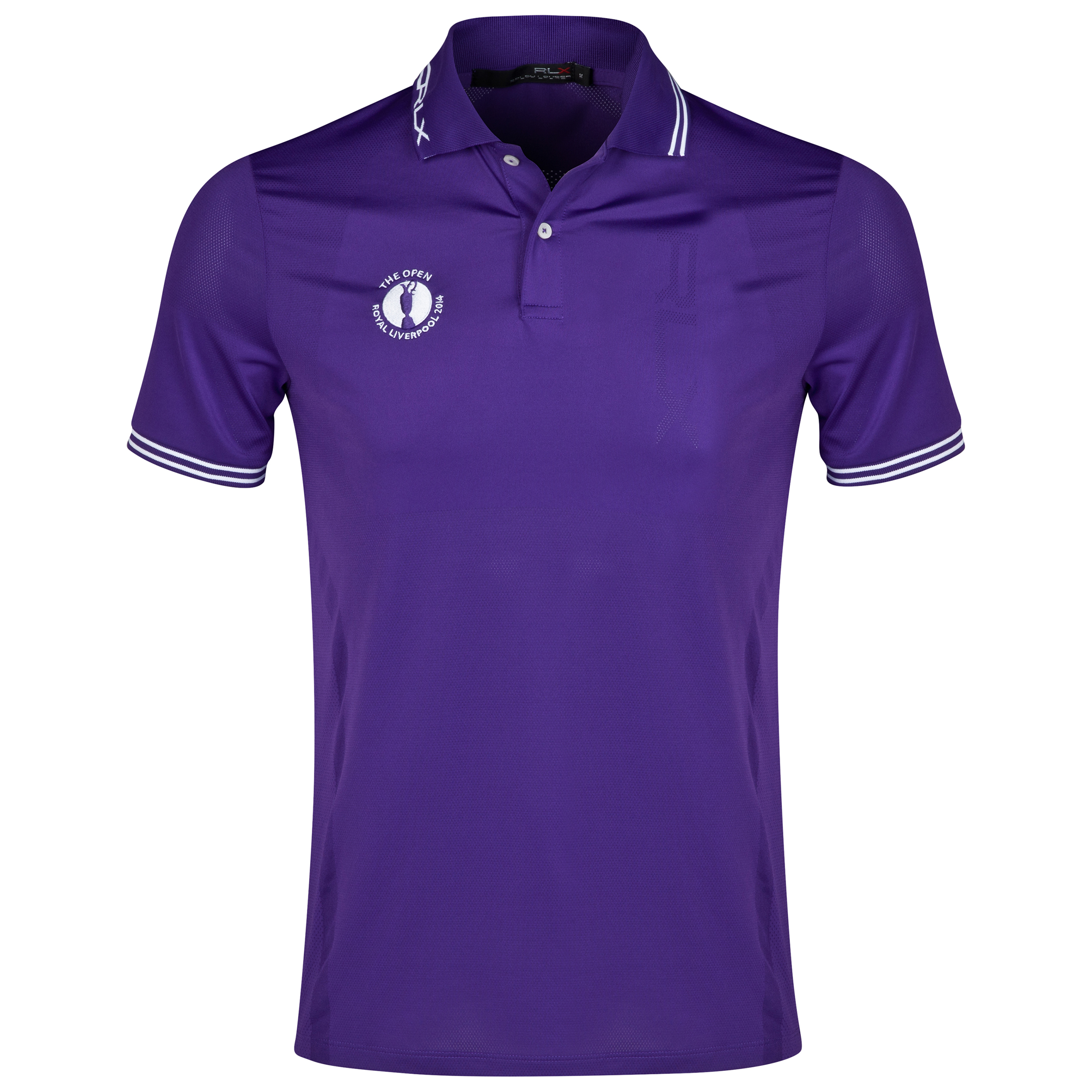 The Open Championship Royal Liverpool 2014 RLX Tipped Polo Purple